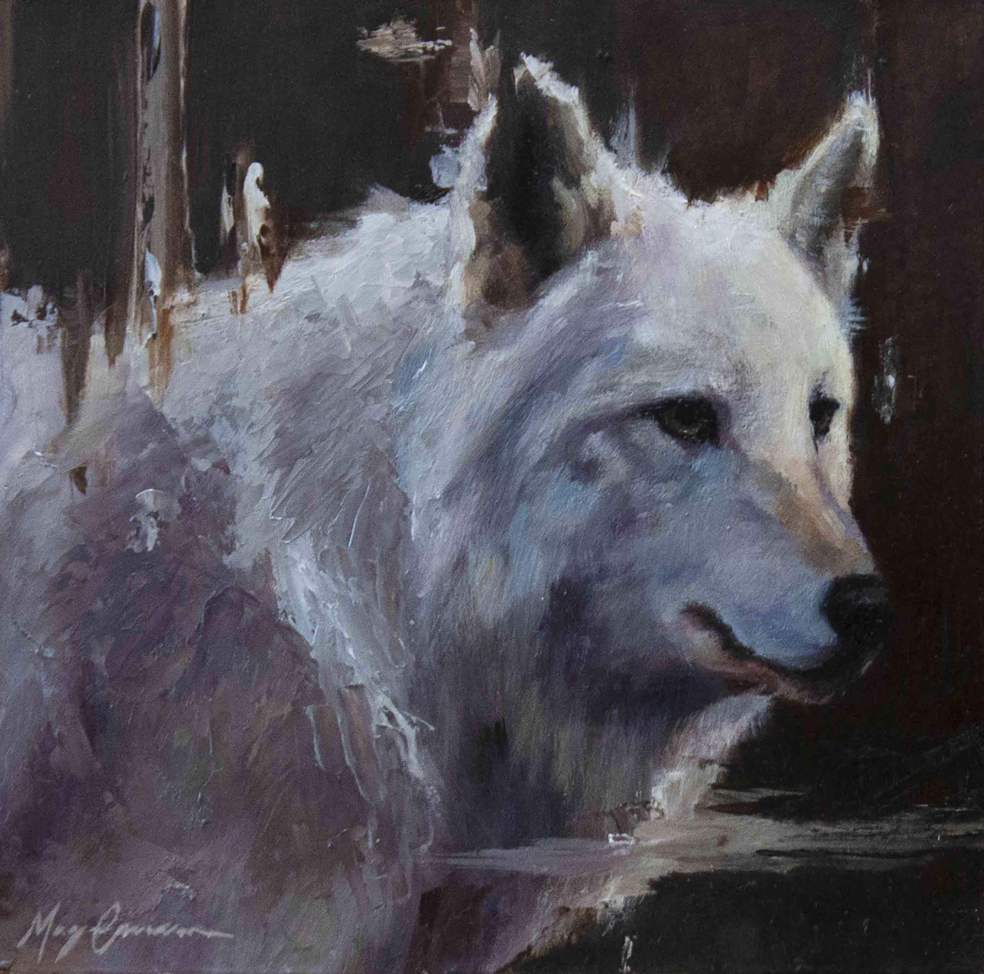 White Wolf Portrait Copy by Morgan Cameron