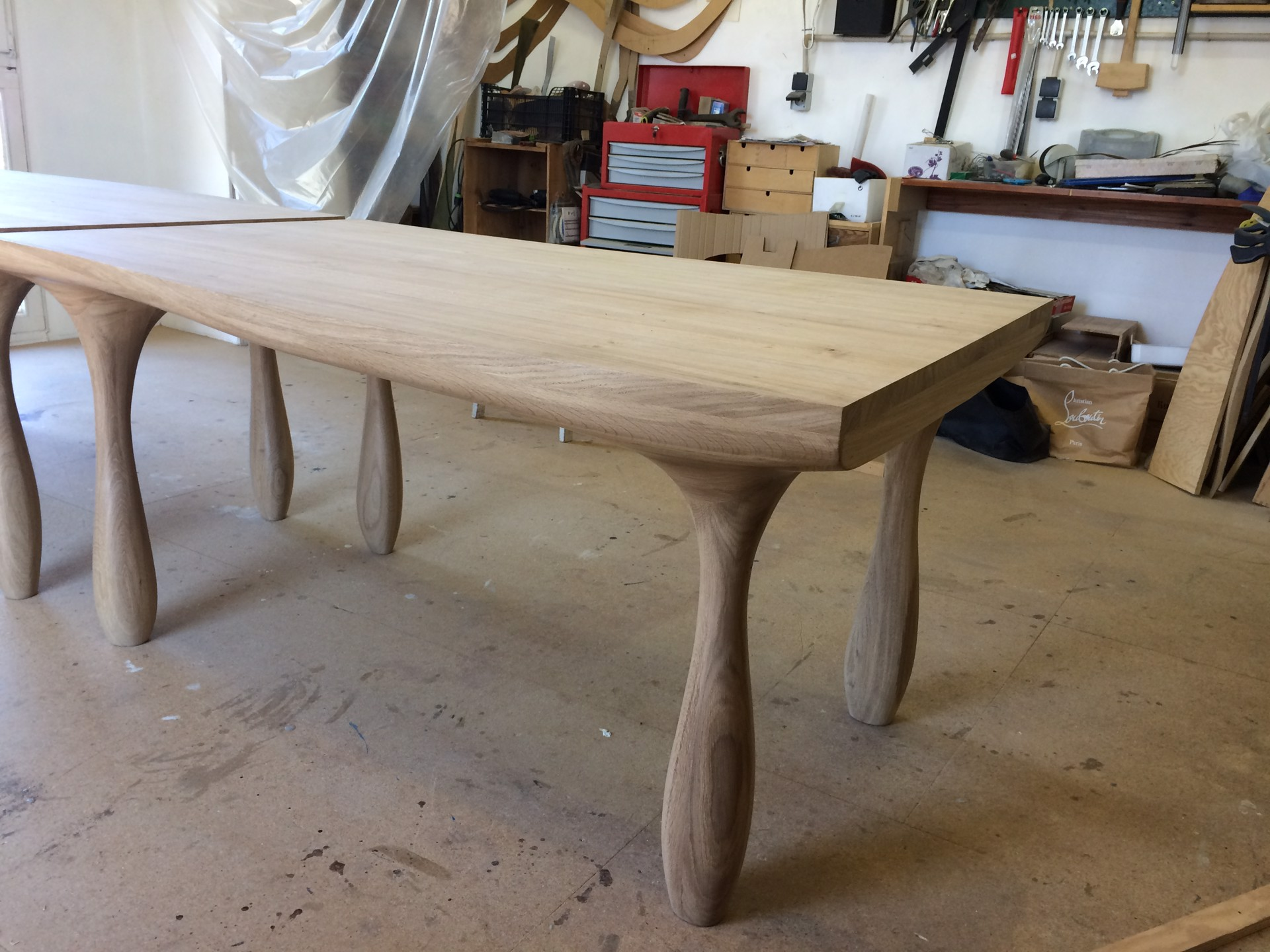 """Luca"" Double Dining table  by Jacques Jarrige"