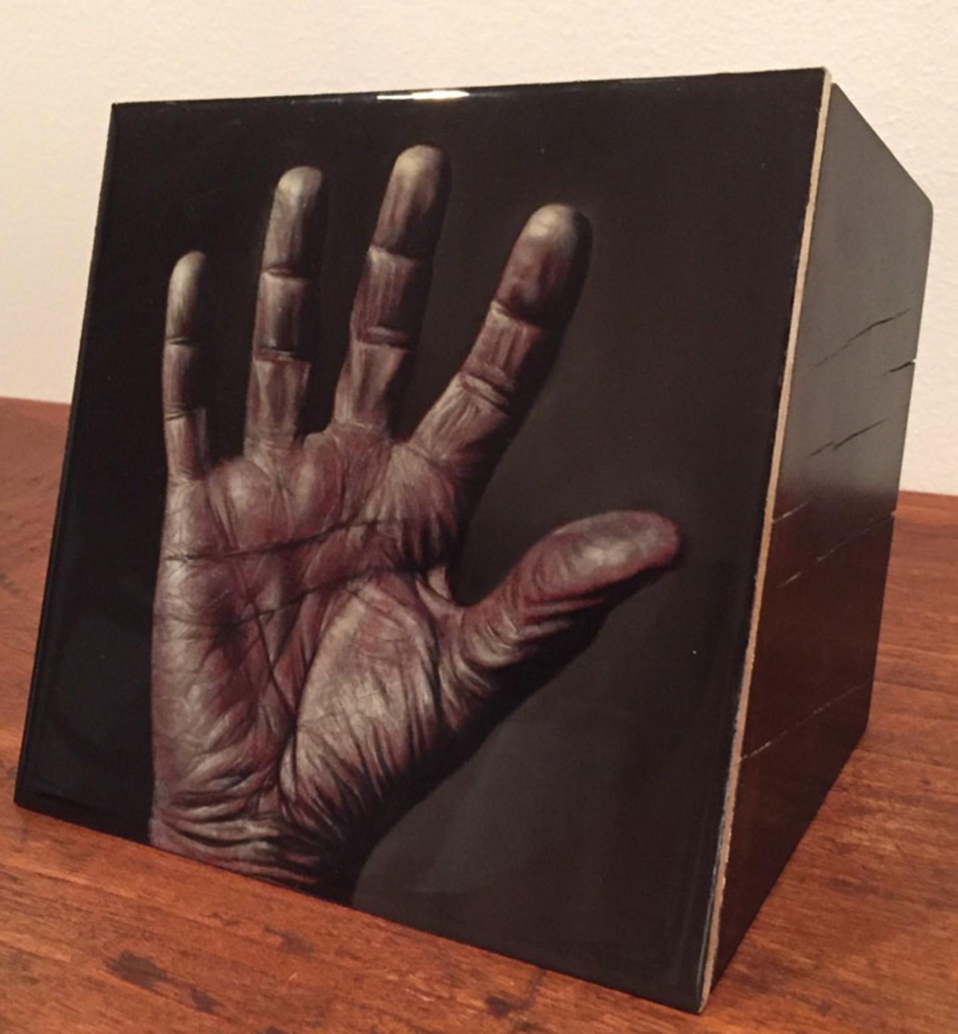 The Hand (Wood Block) by Larissa Morais