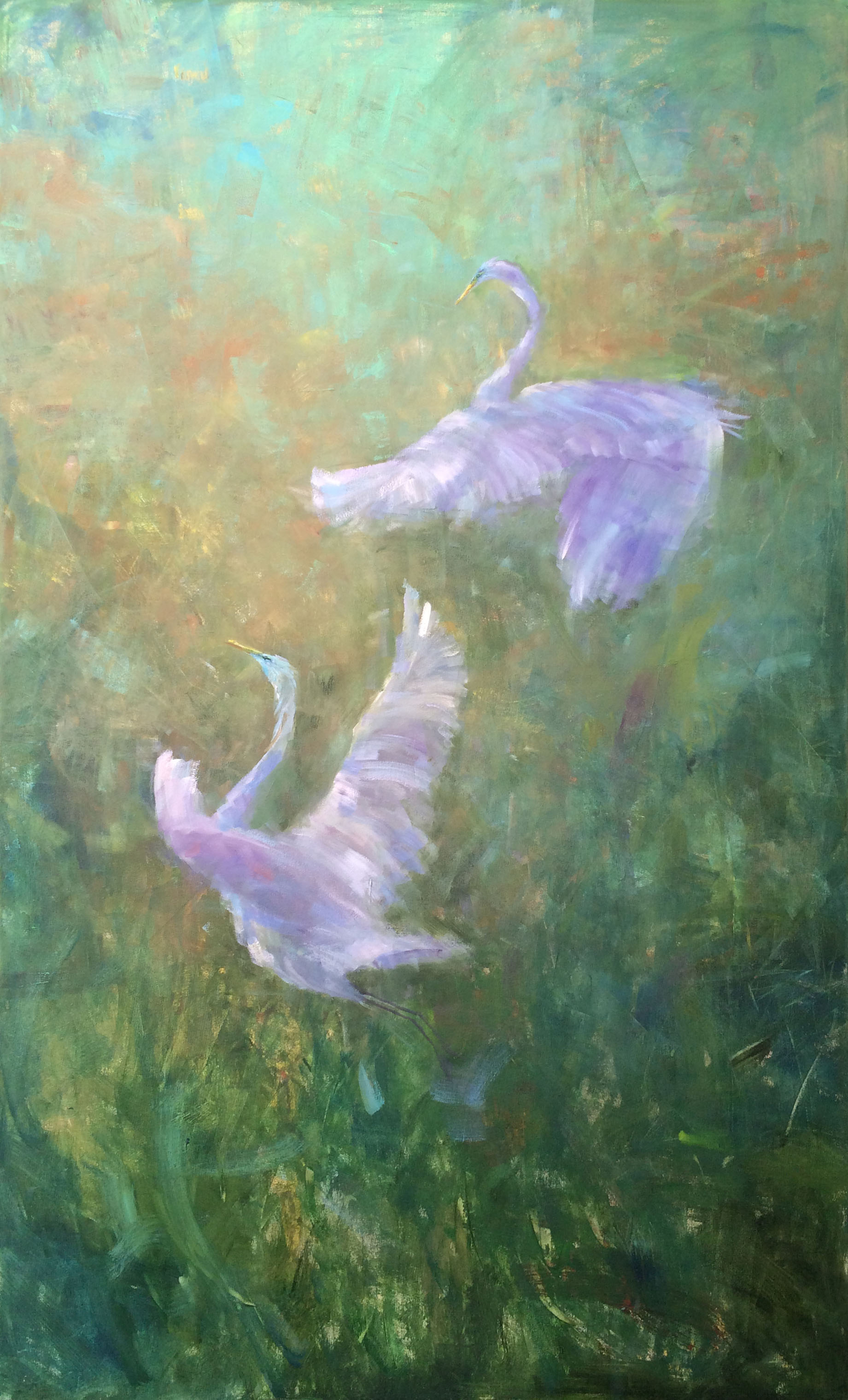 Ascent of the Great Egret II by Karen Hewitt Hagan