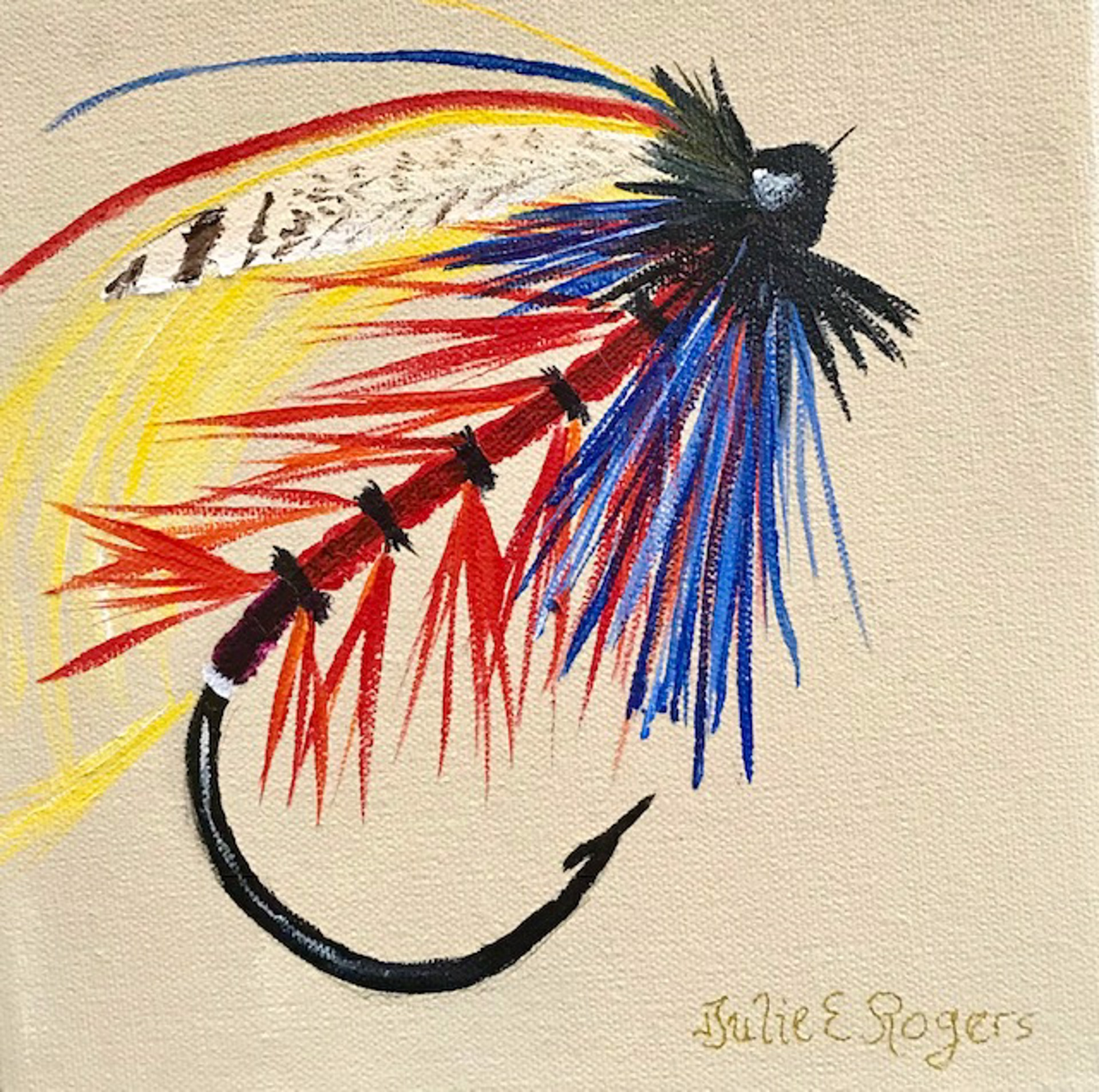 Salmon Fly 1 by Julie Rogers