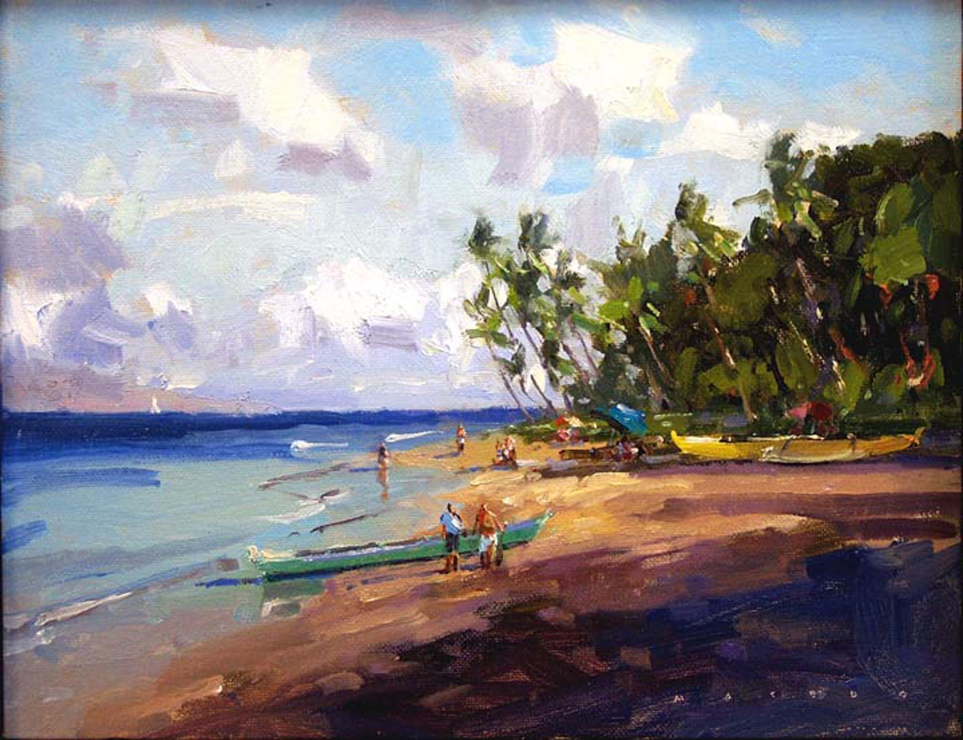 Canoe Beach Morning by Ronaldo Macedo