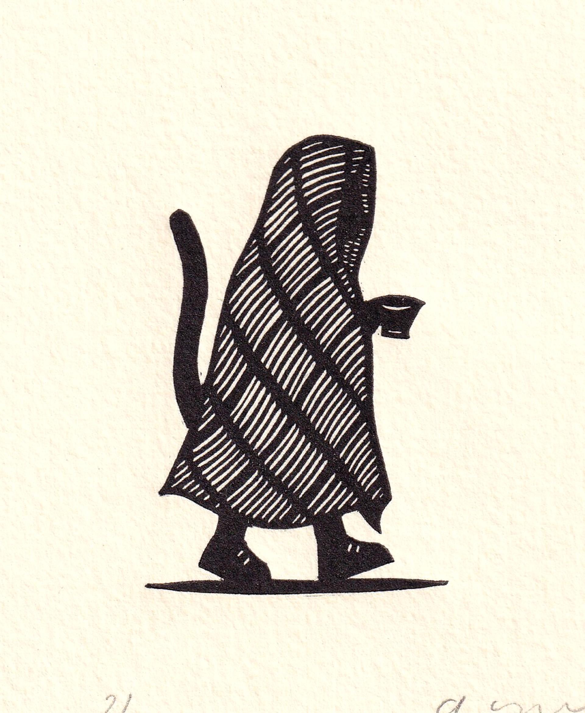 Gato con Taza by Alberto Cruz