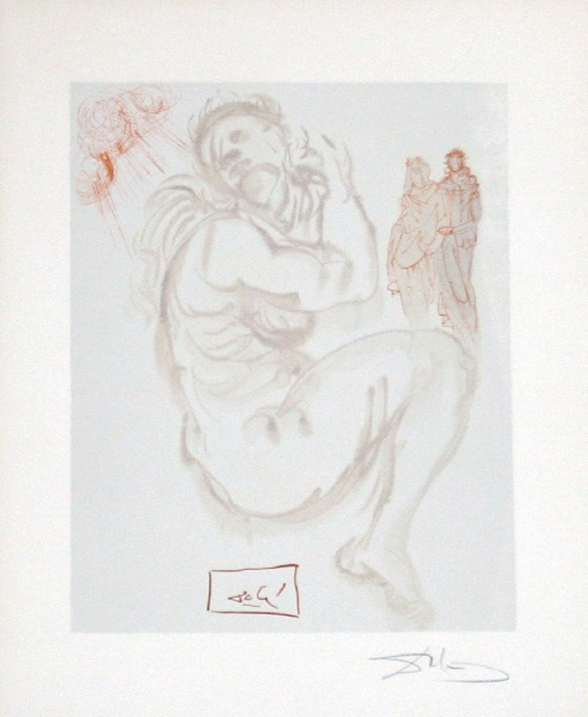 Purgatory Canto 19: Dante's Dream from The Divine Comedy by Salvador Dali (1904 - 1989)