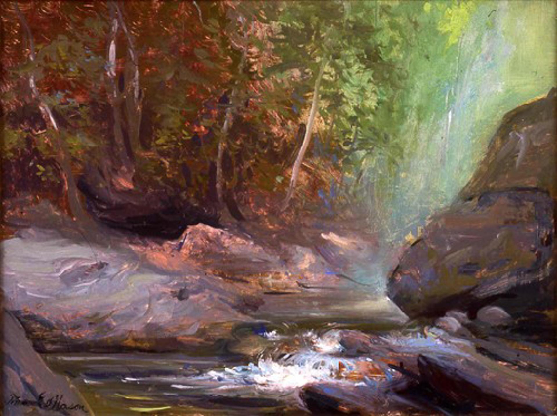 Great Rock, Moss Glen by Frank Mason (1921 - 2009)