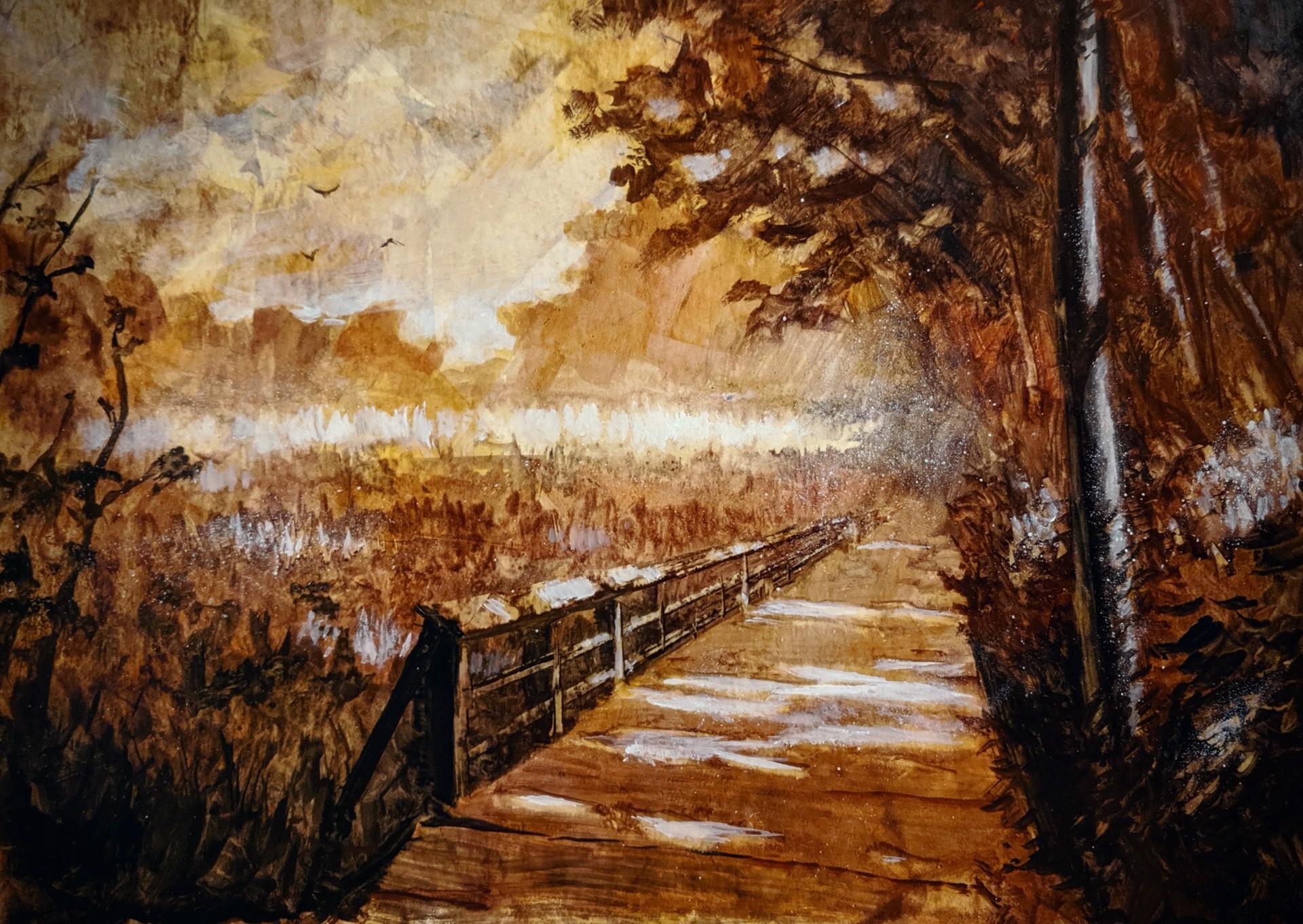 Bridge Through the Field by Christopher Clark
