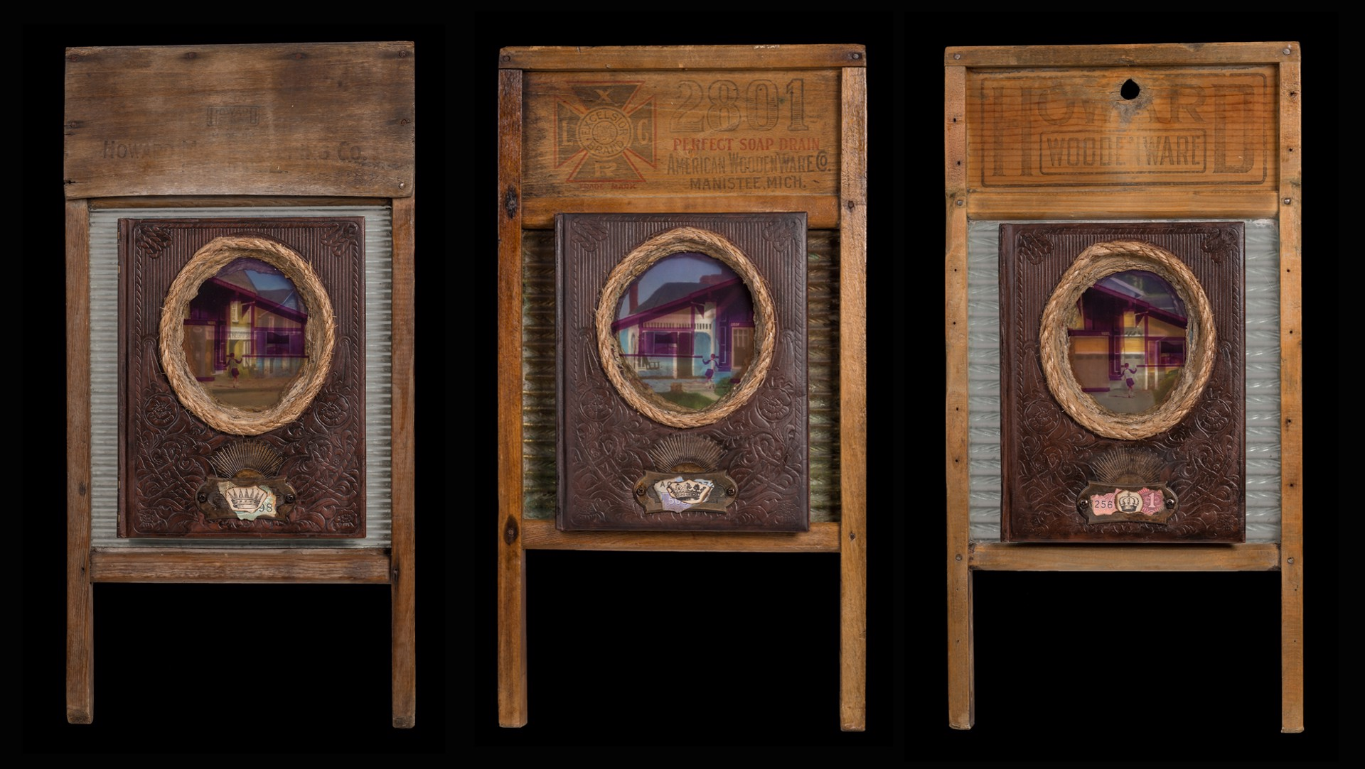 Bought & Paid For 1 (triptych) by Lisa Myers Bulmash