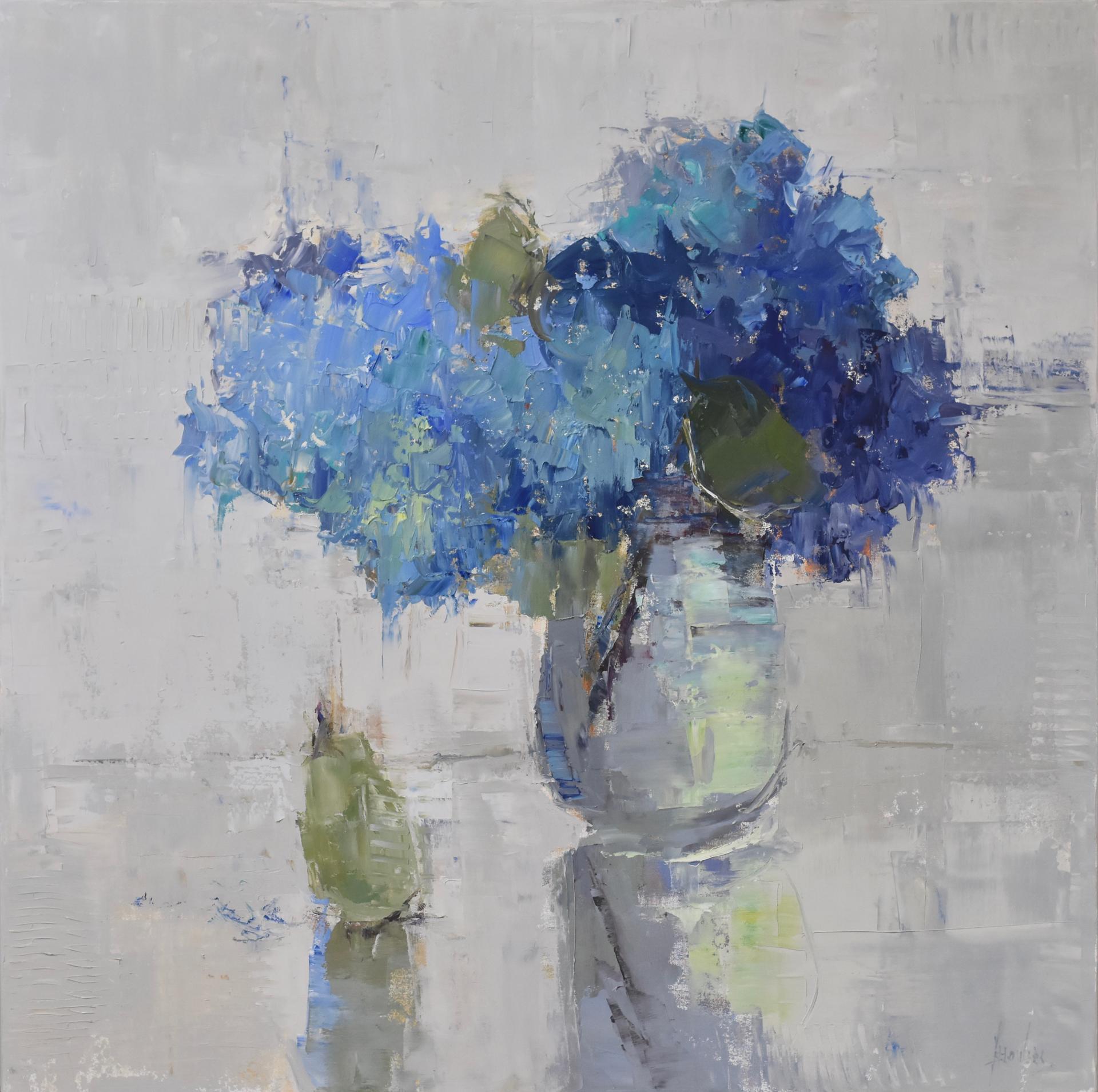 Blue Hydrangeas by Barbara Flowers