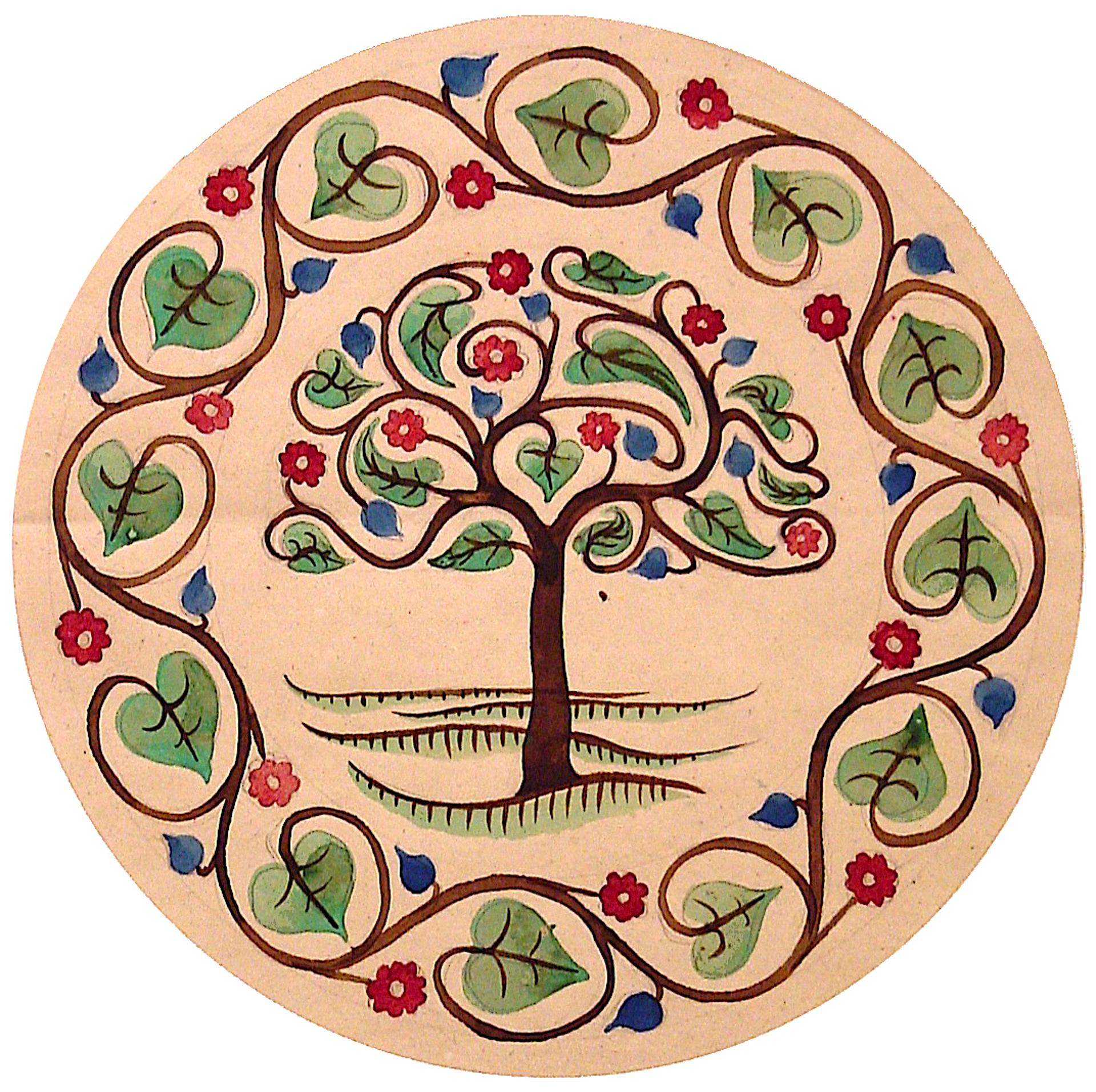Oak Tree and Flowers by M.C. Escher