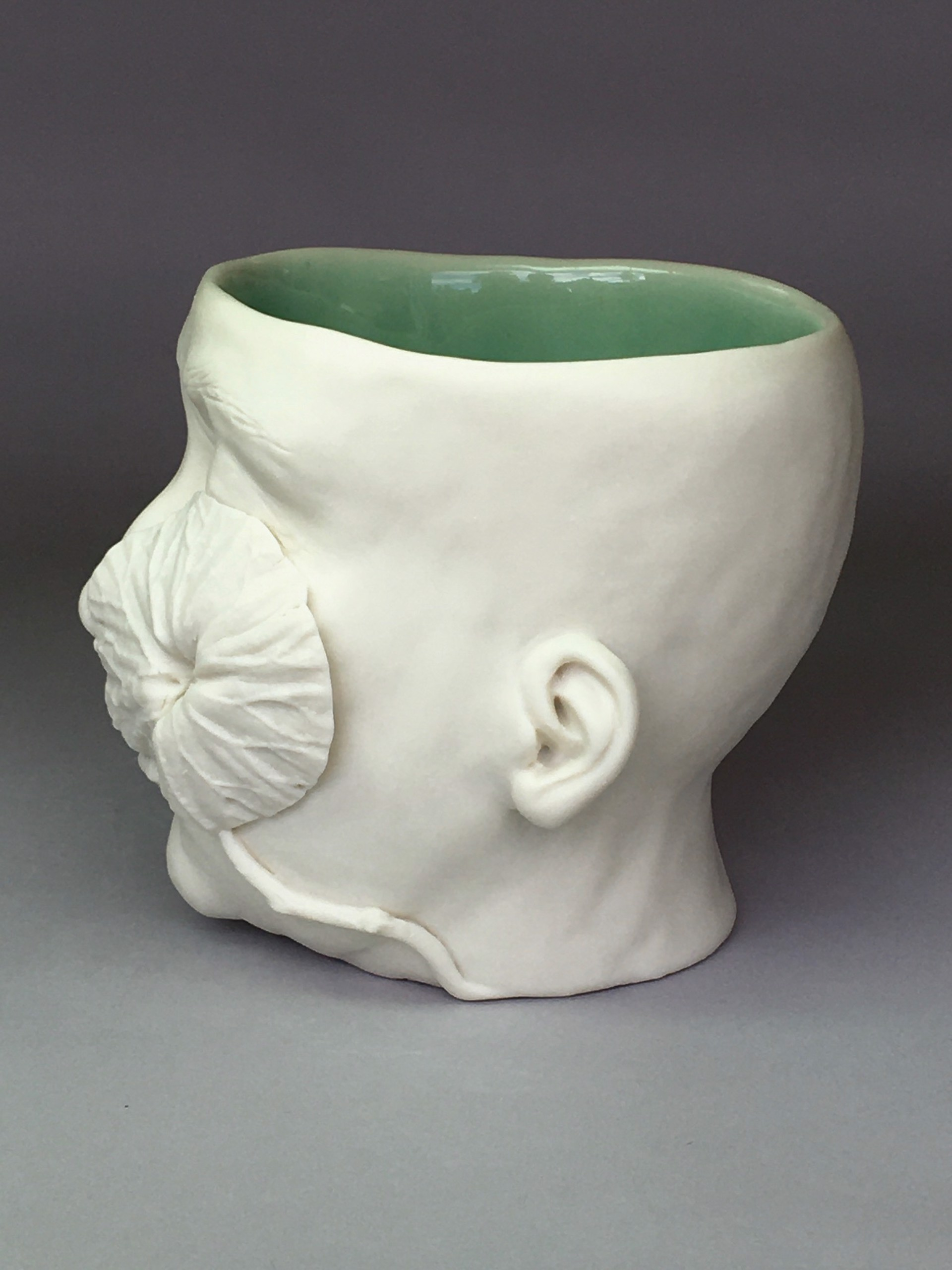 """Flora Cup III"" (one leaf right side, eyes closed) by Adrian Arleo"