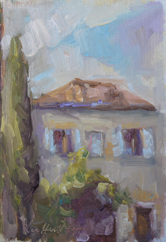 Left Wing of Spannocchia by Karen Hewitt Hagan