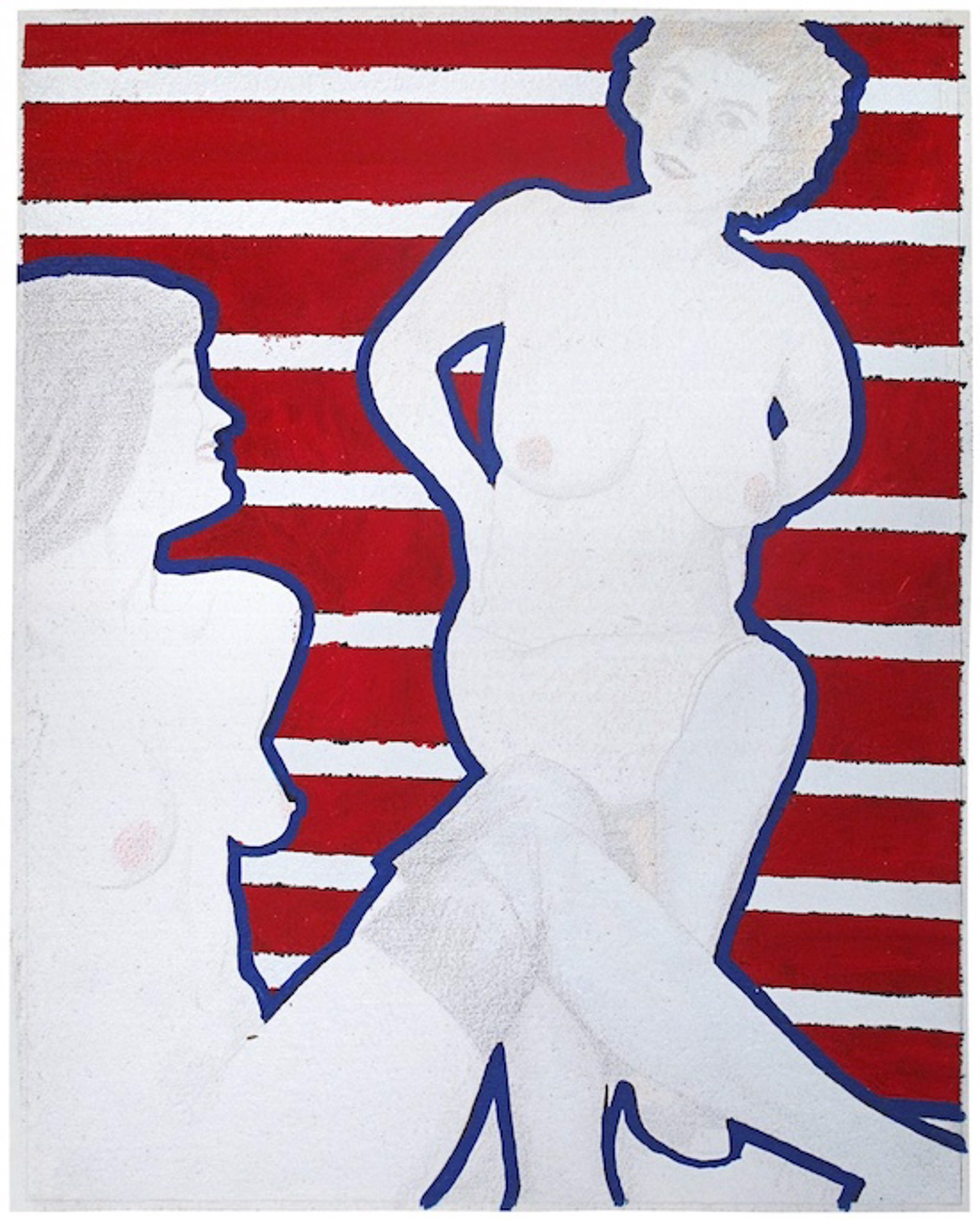 Two Blue Nudes by David Chapin