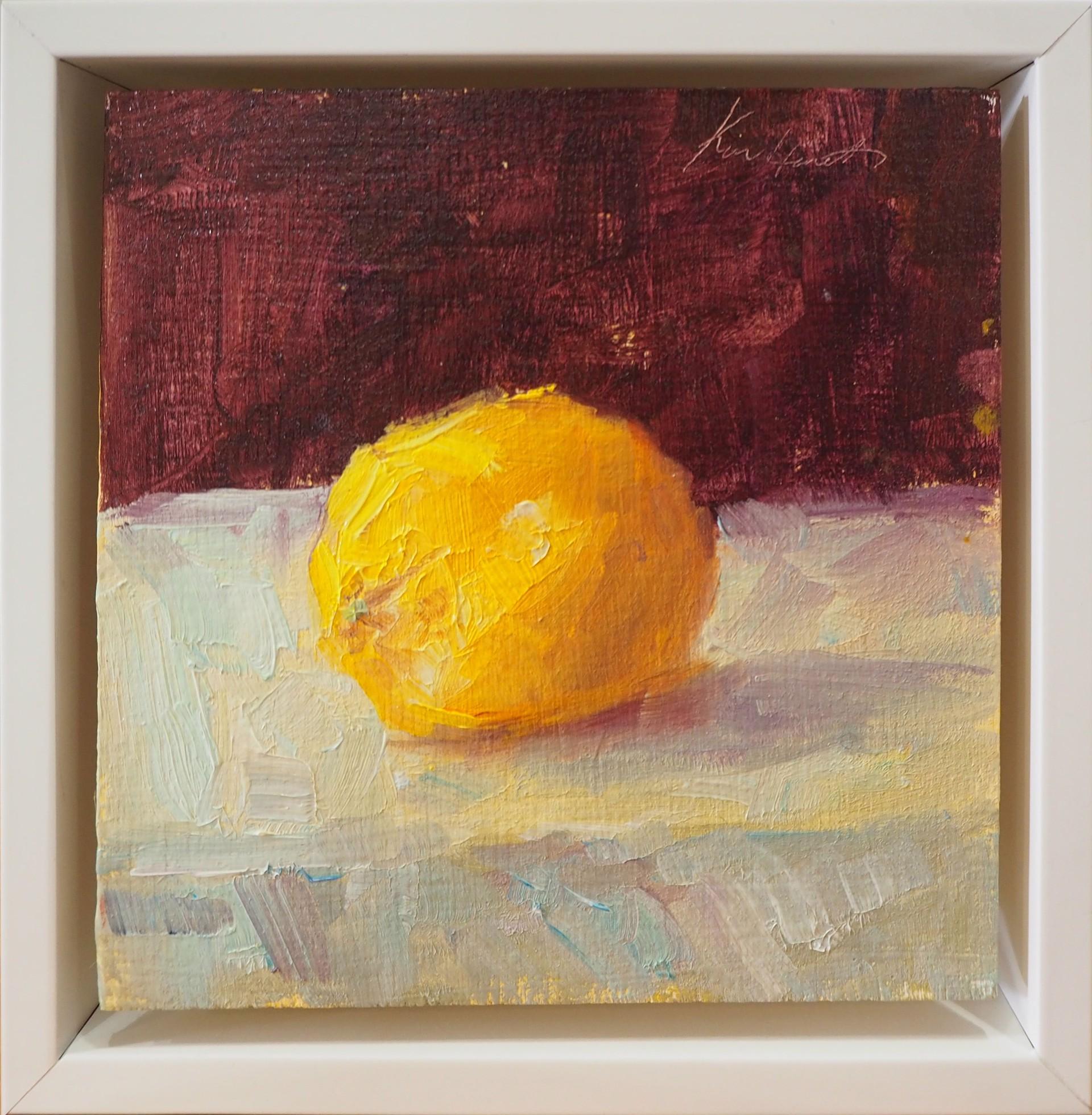 Lemon on White by Karen Hewitt Hagan