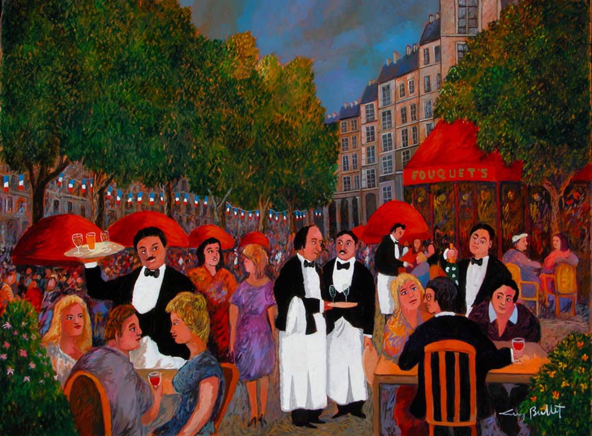 Bastile Day On The Champs Elysees - Paris by Guy Buffet