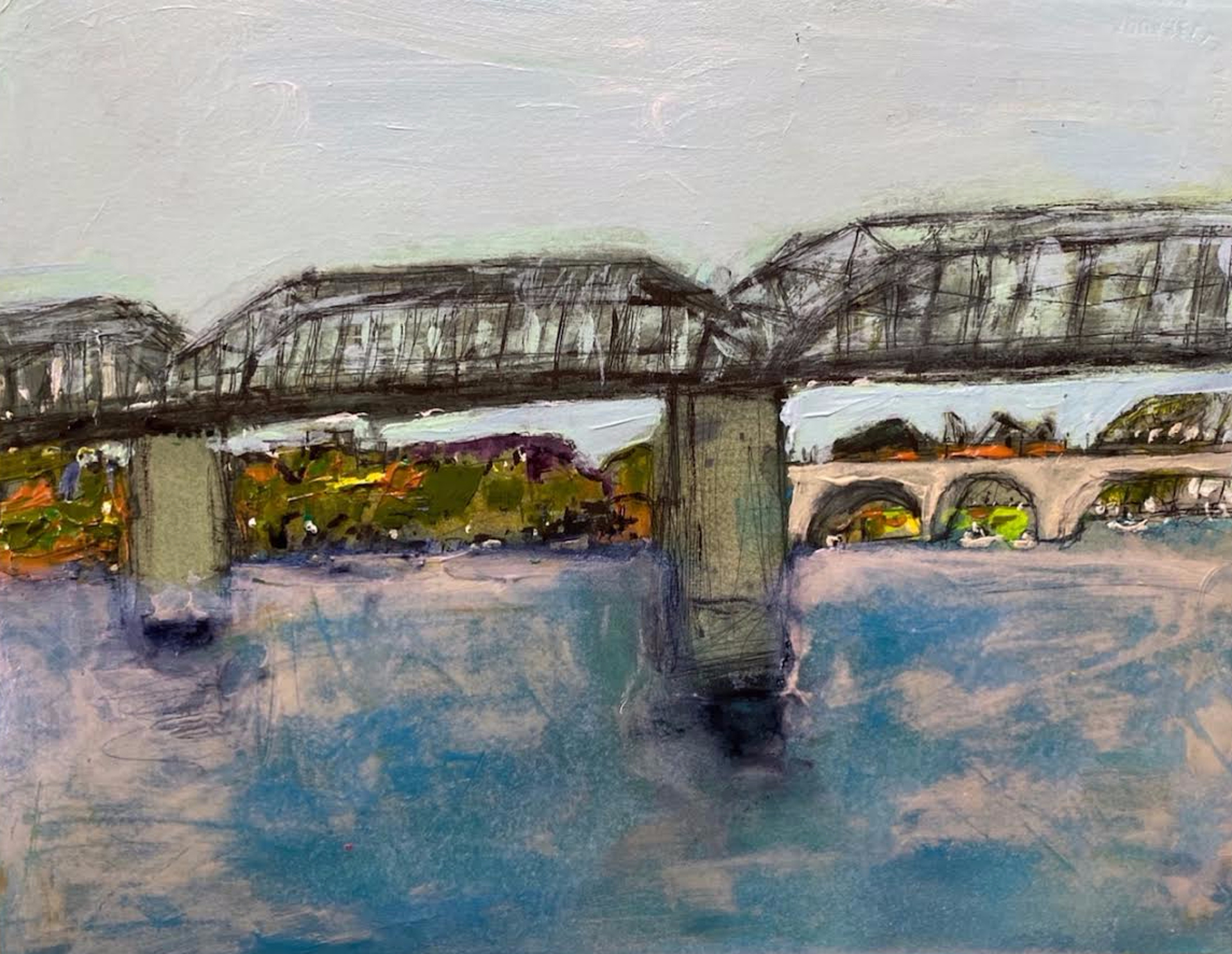 Walnut Street Bridge by Ana Guzman