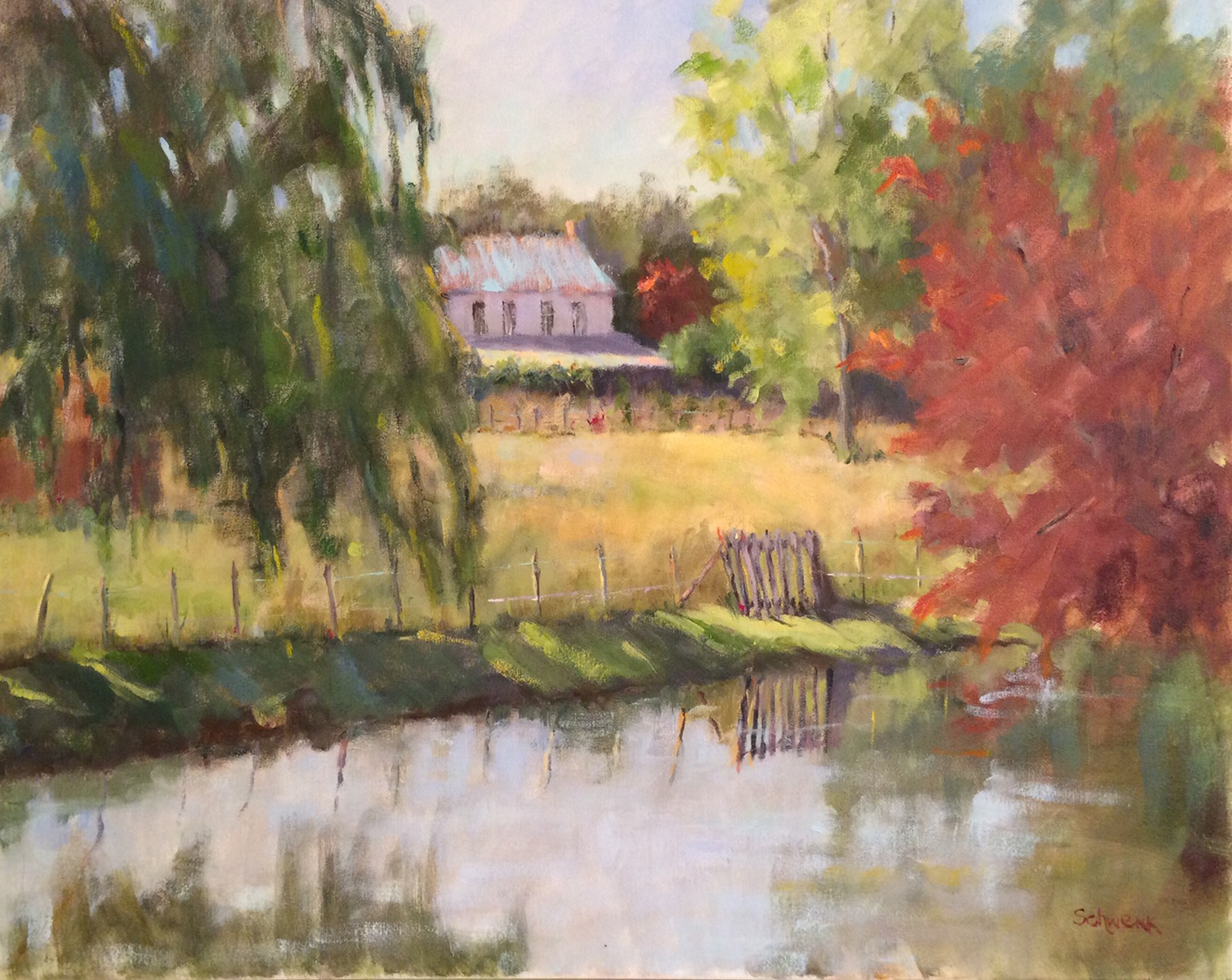 Summer Day by the River by Sharon Schwenk