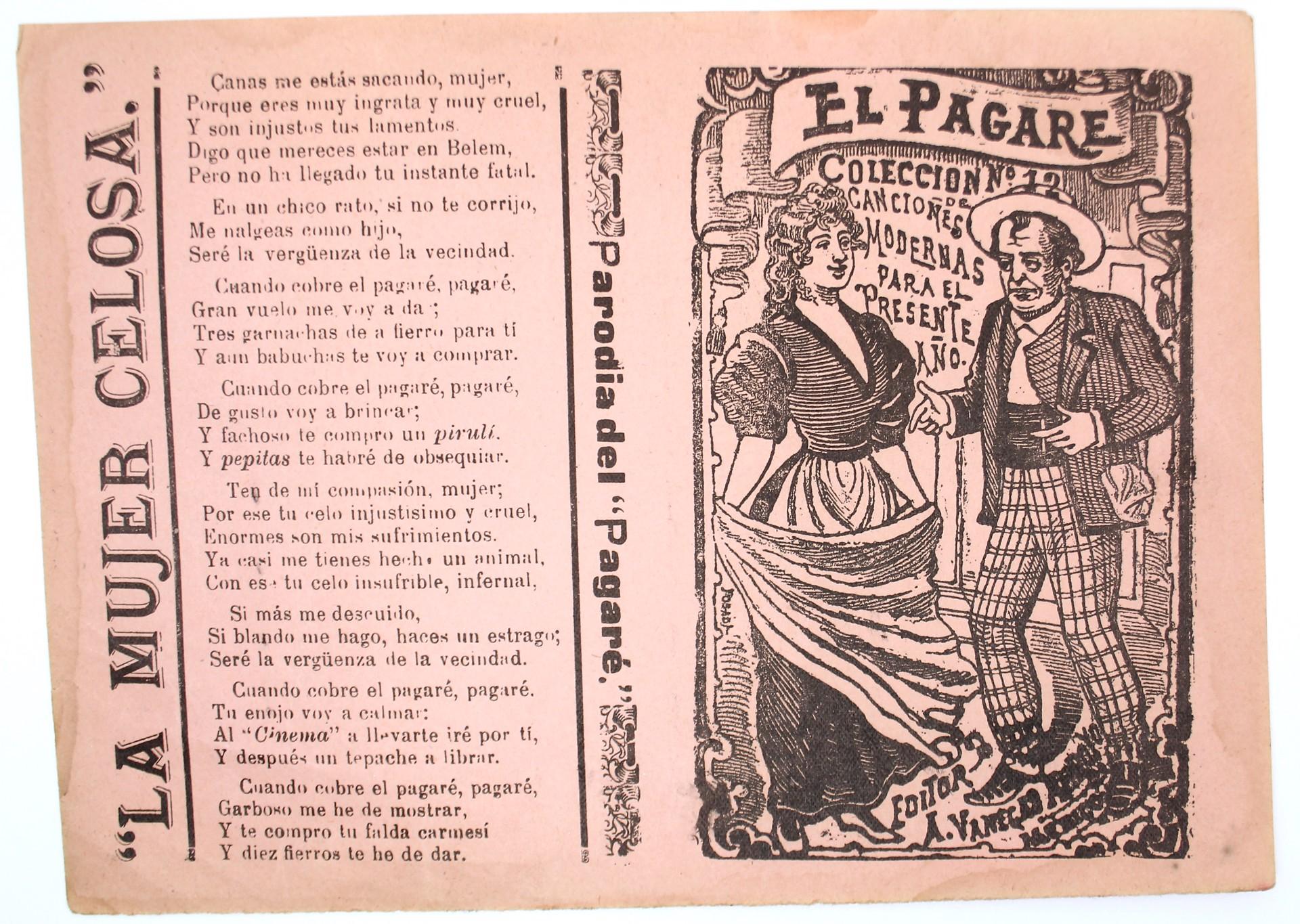 El Pagare. Coleccion de canciones modernas para el presente ano, No. 12 by José Guadalupe Posada (1852 - 1913)