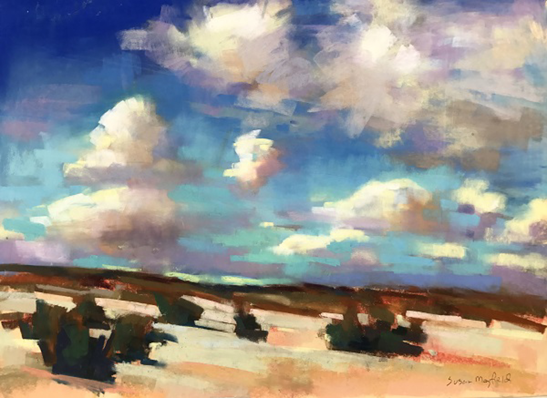 Dunes and Clouds by Susan Mayfield