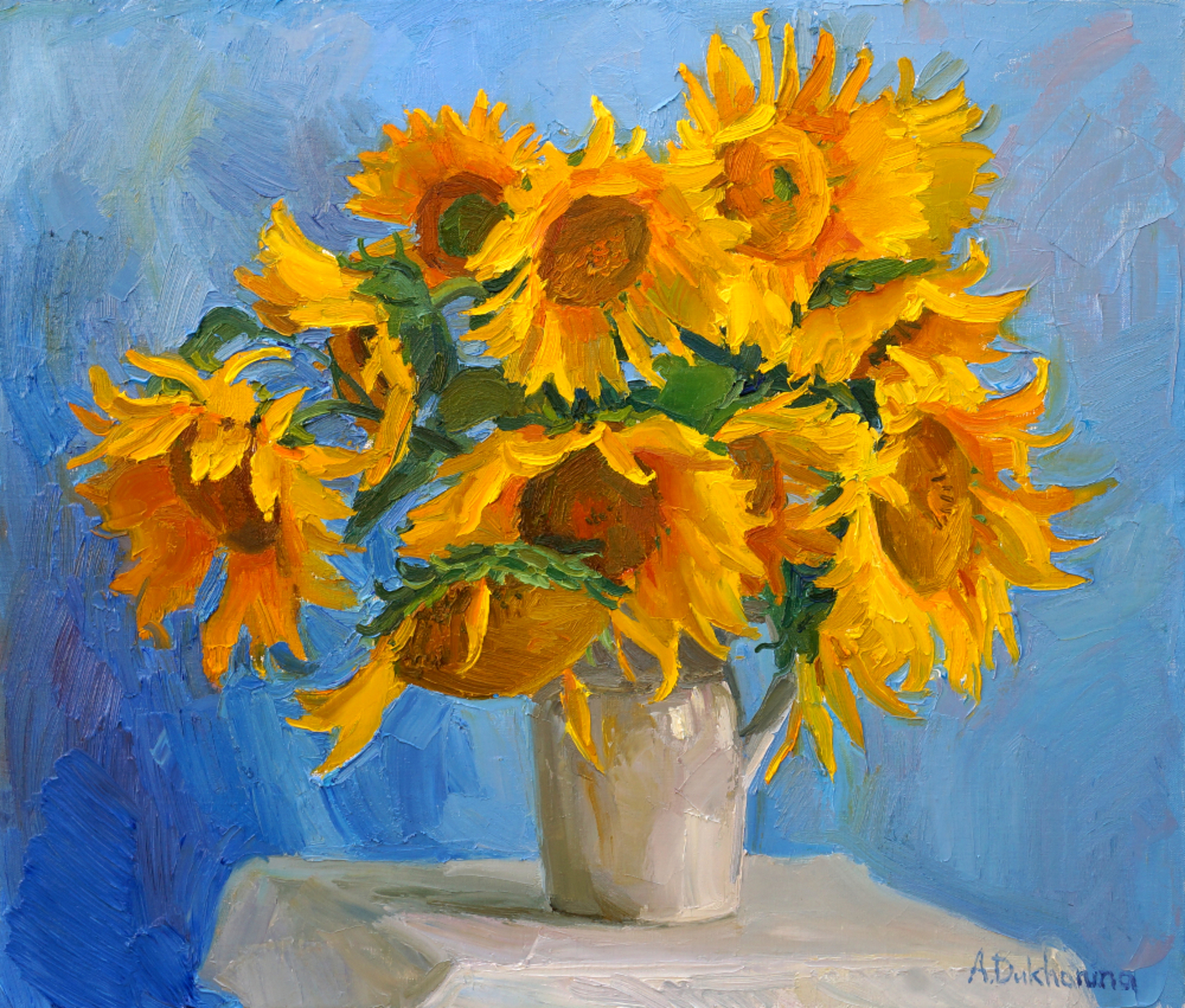 Yellow and Blue by Anastasia Dukhanina