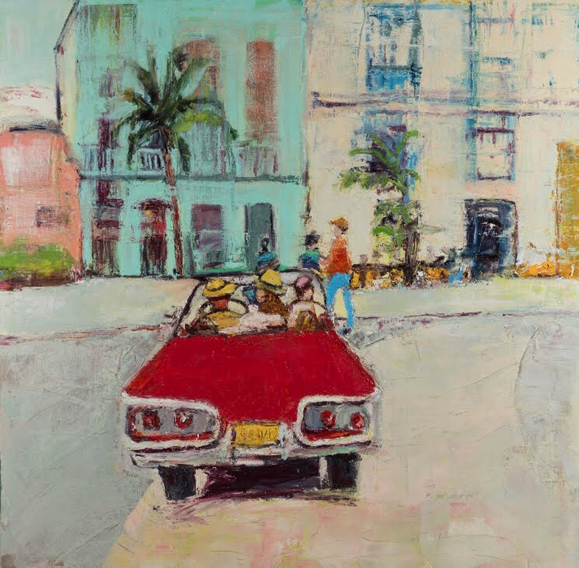 La Vida Cuba: Red Convertible by Ana Guzman