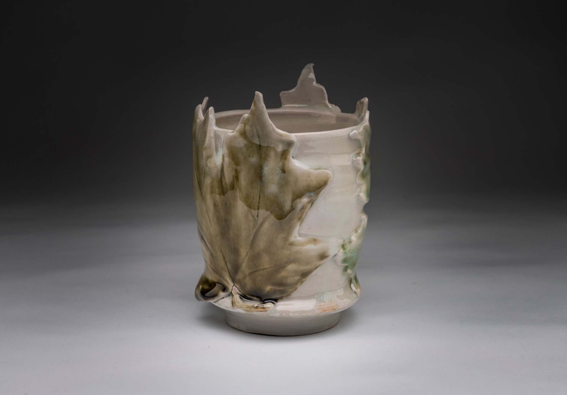 Vase with Two Leaves by Caroline Bottom Anderson