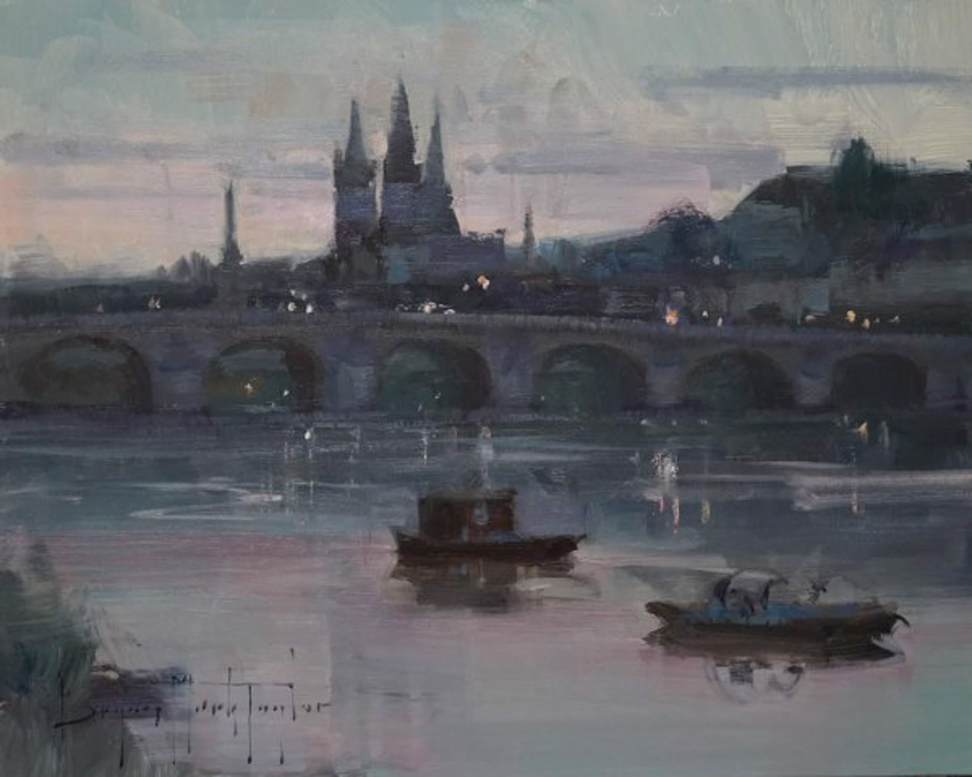 Bryan Mark Taylor: Loire River Twilight by Bryan Mark Taylor