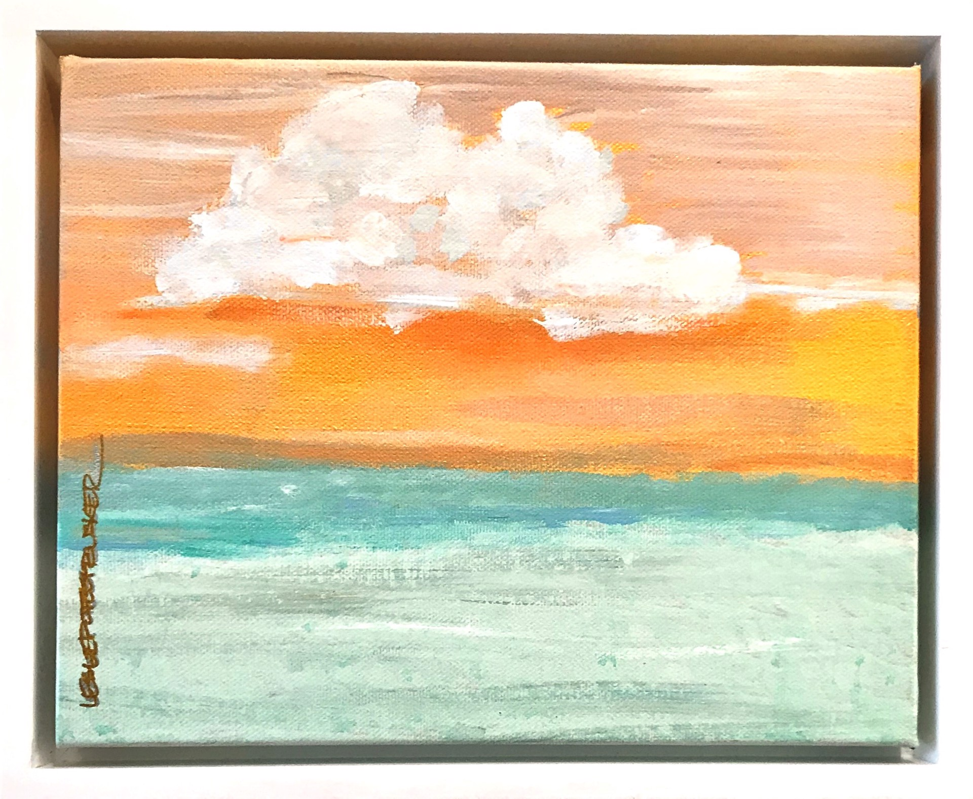 Caribbean Sunset by Leslie Poteet Busker
