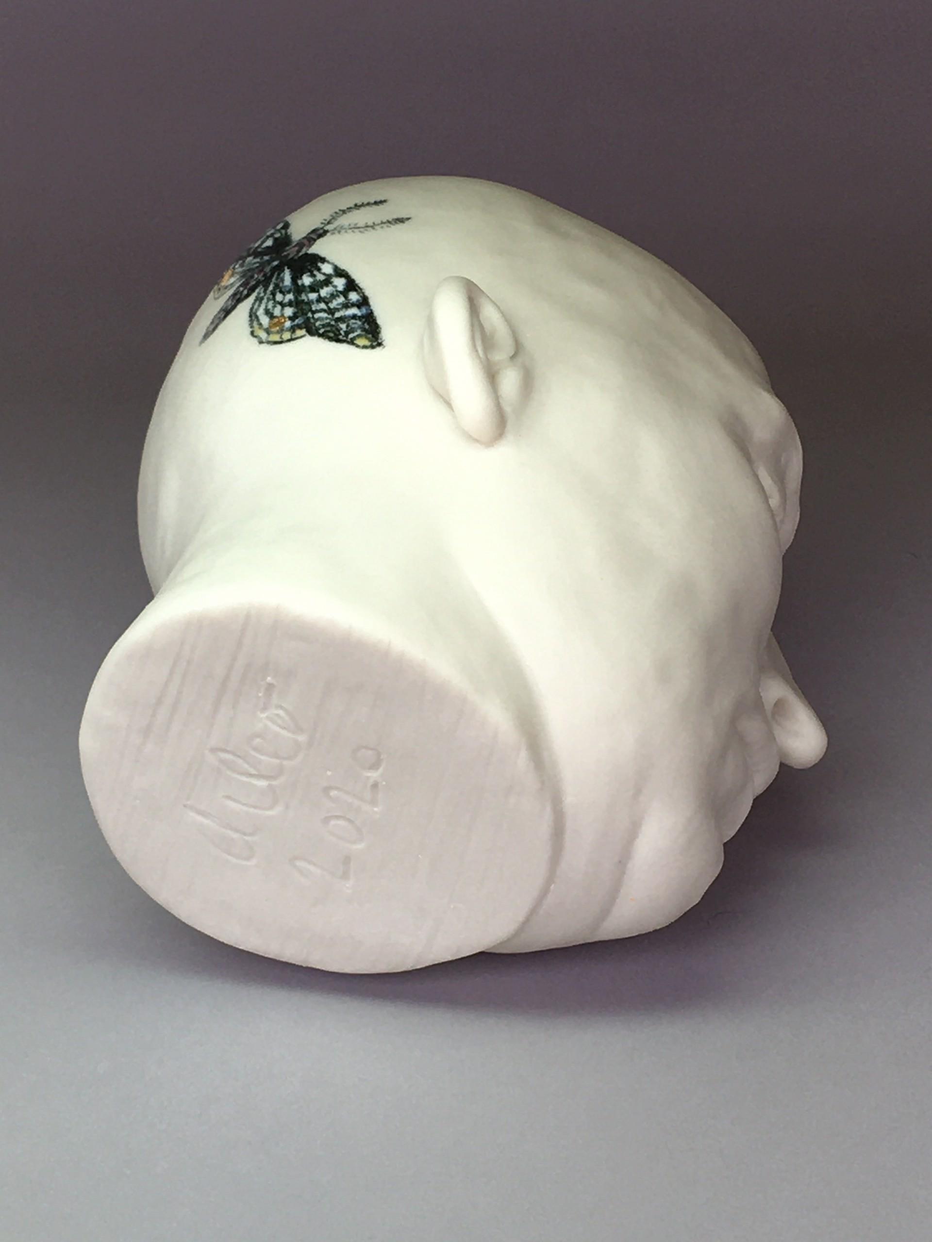 """""""Moth Cup V"""" (left side, black matte, eyes closed) by Adrian Arleo"""