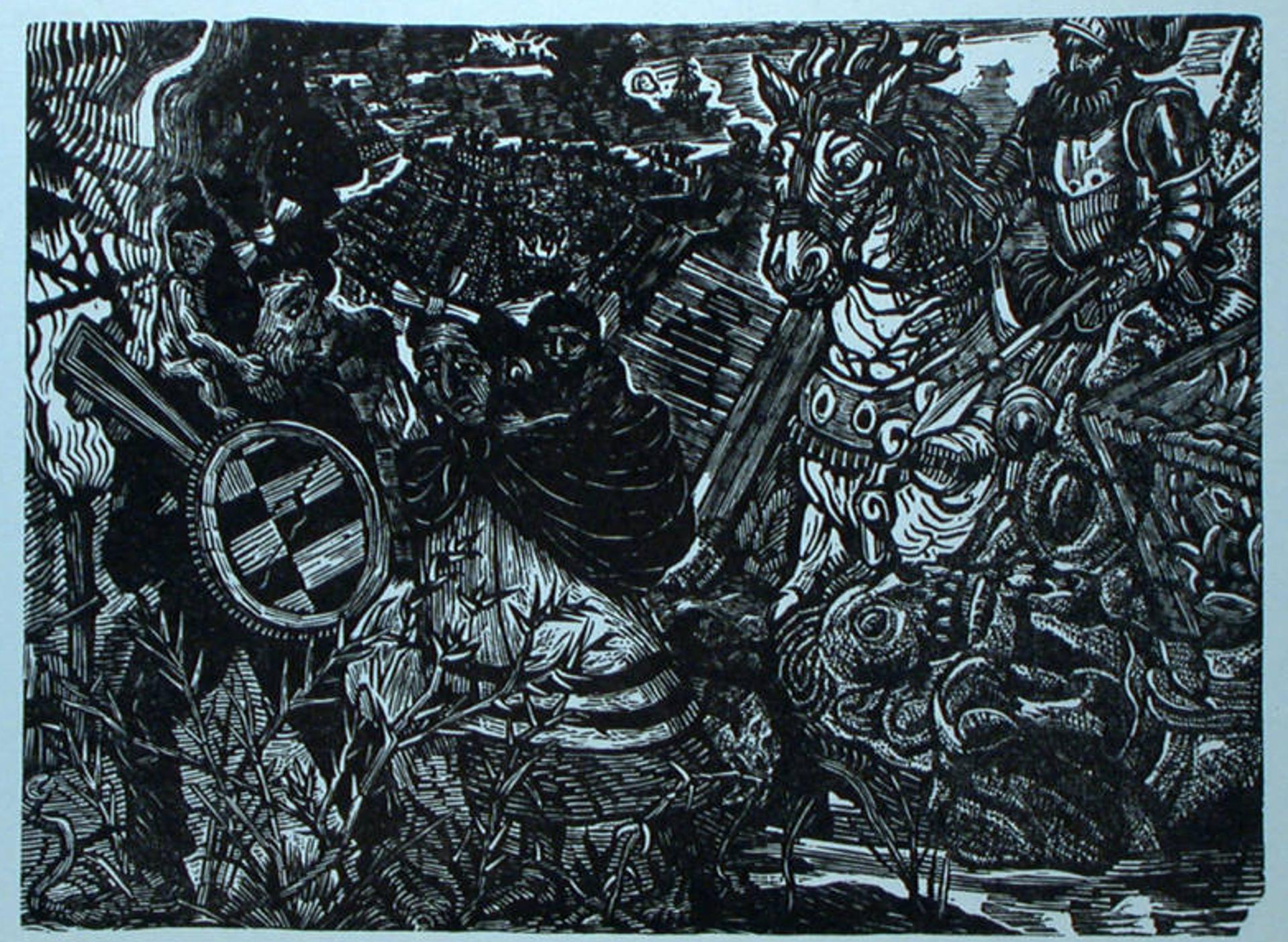 Caida de Tenochtitlán by Ángel Bracho (1911 - 2005)