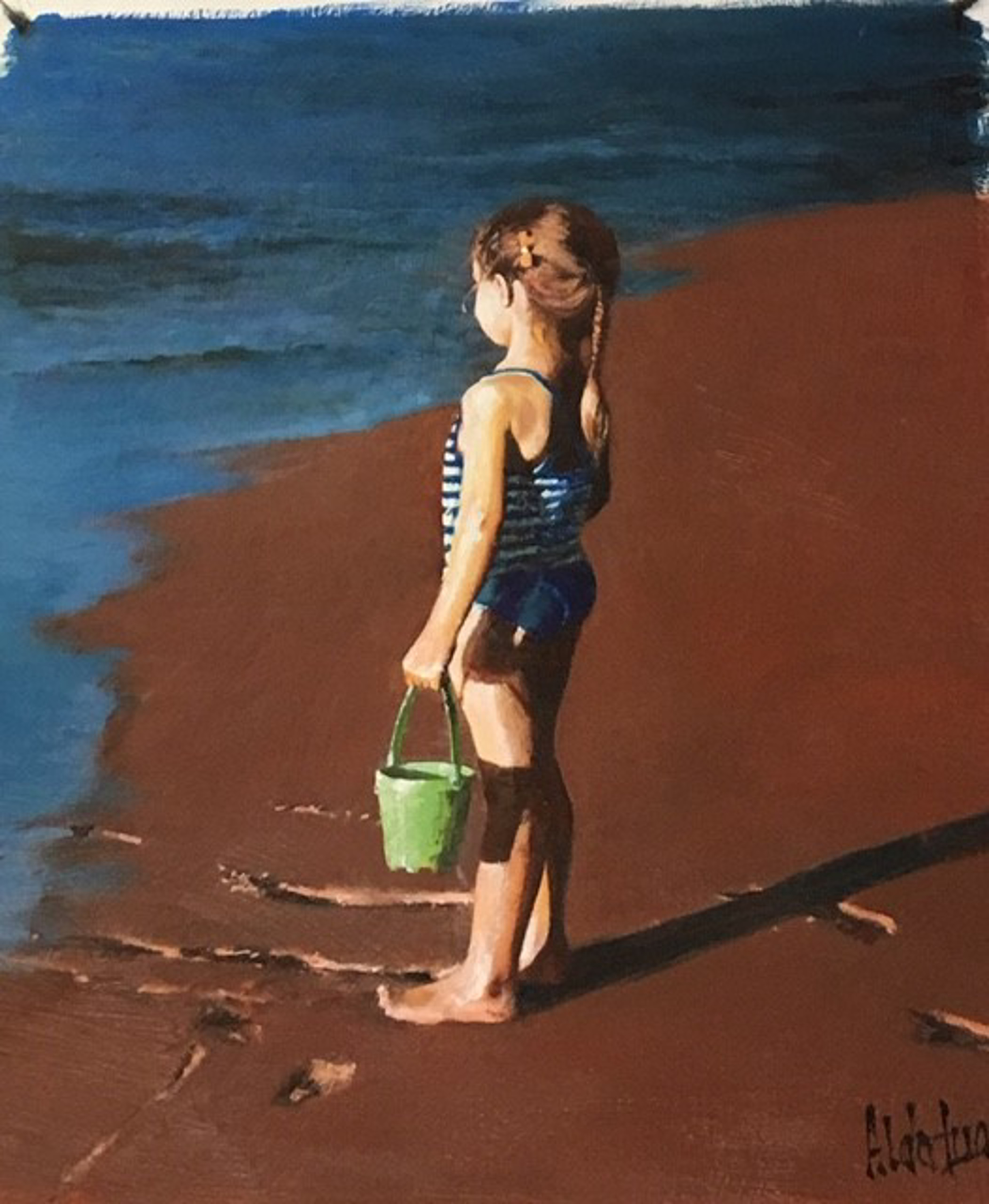 By The Sea I (Girl) by Aldo Luongo