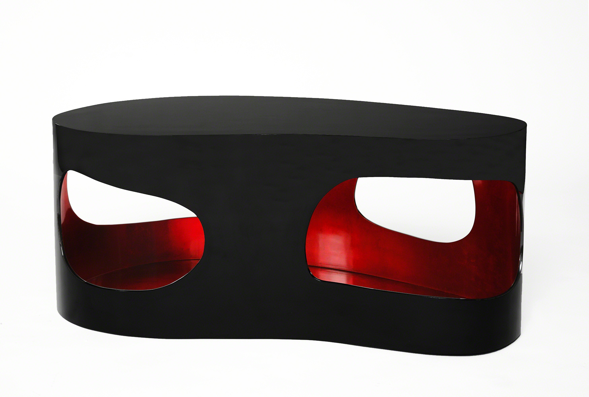"""Cloud"" Coffee Table with Red by Jacques Jarrige"