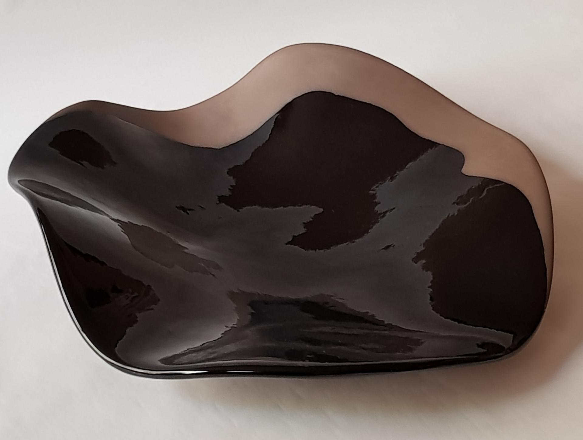 """""""Aile de Corbeau"""" Ceramic by Claire de Lavallee"""