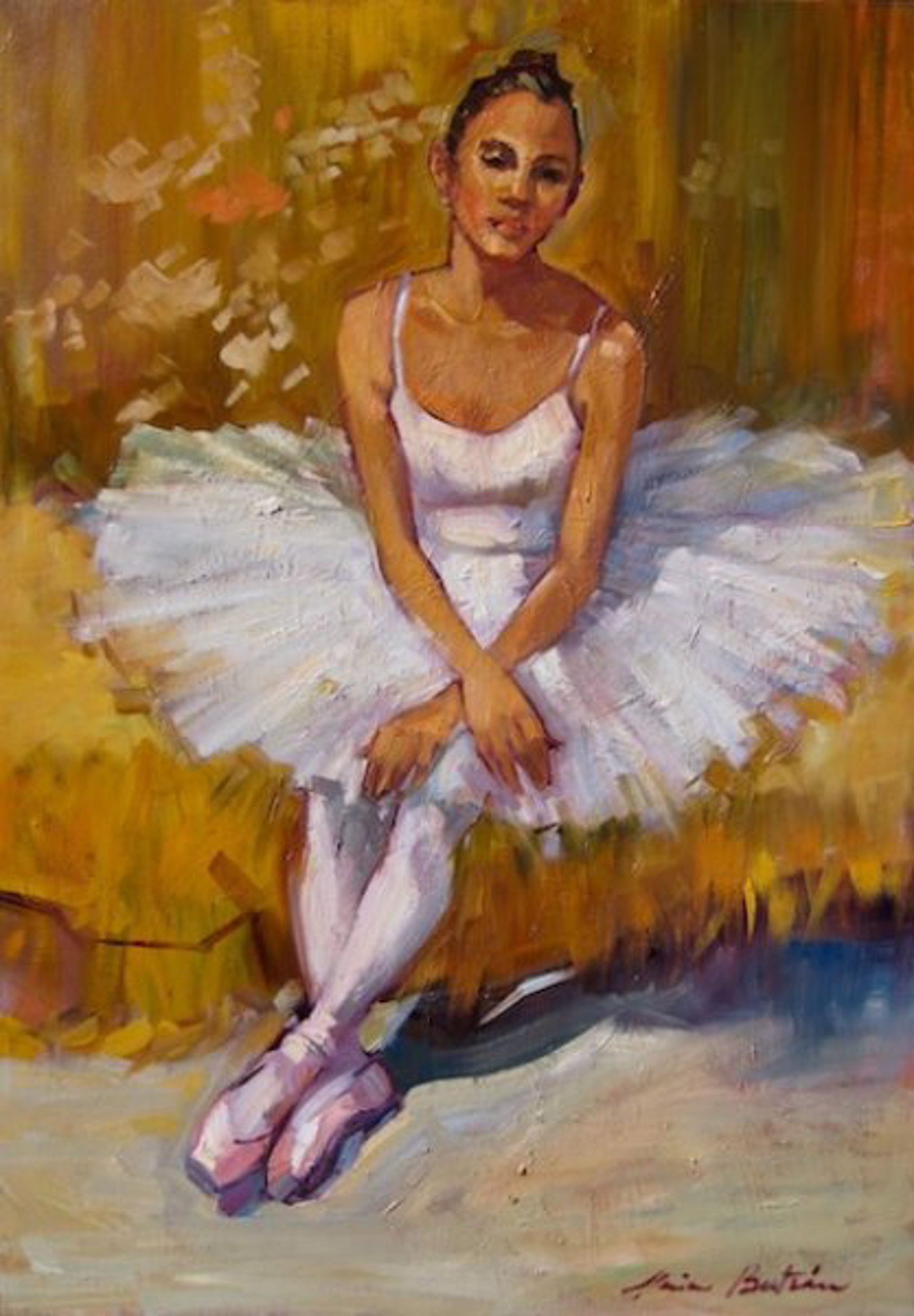 Maria Bertran: Ballerina At Rest by Maria Bertrán