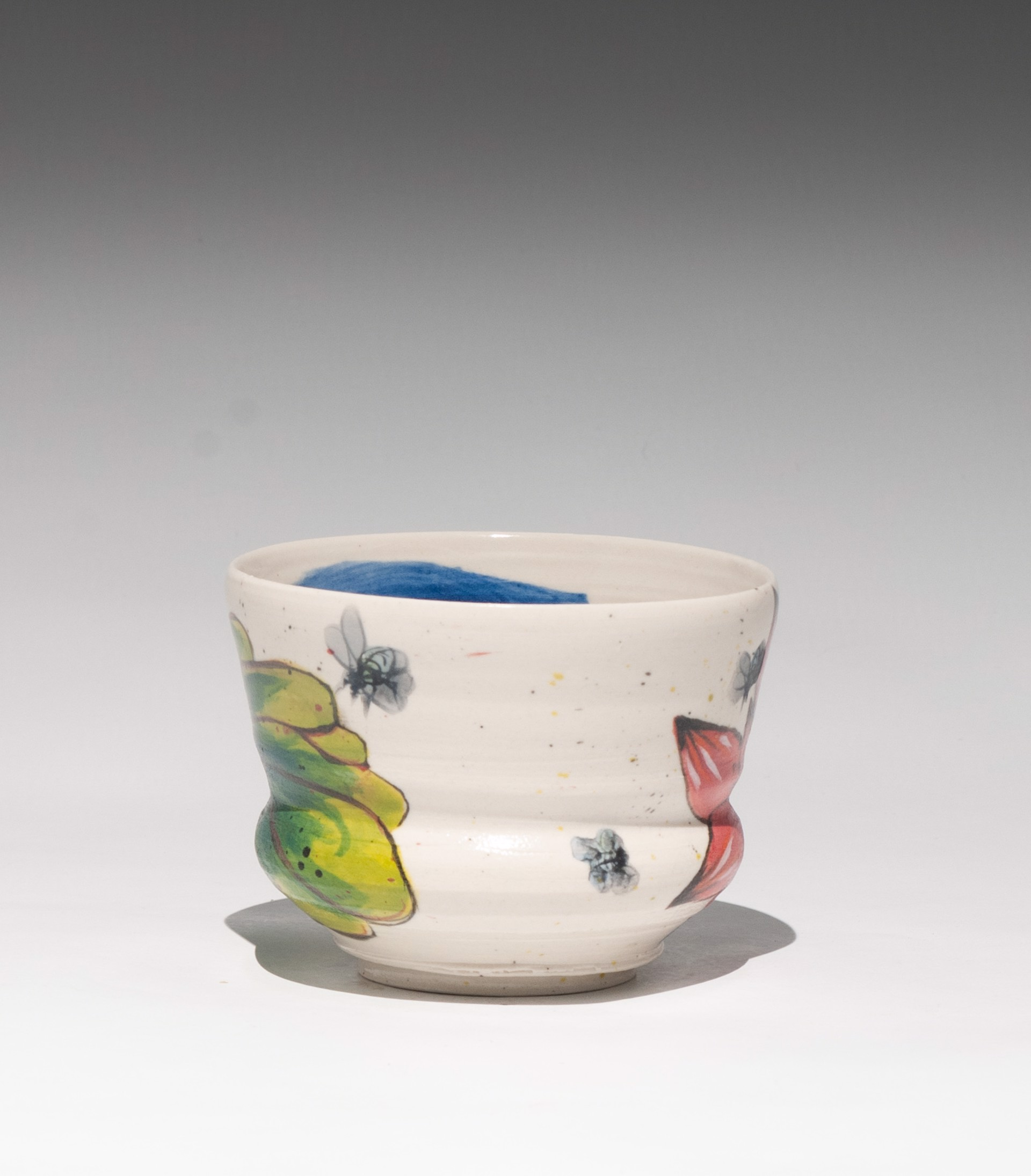 Insect Tea Bowl 15 by Caroline Bottom Anderson