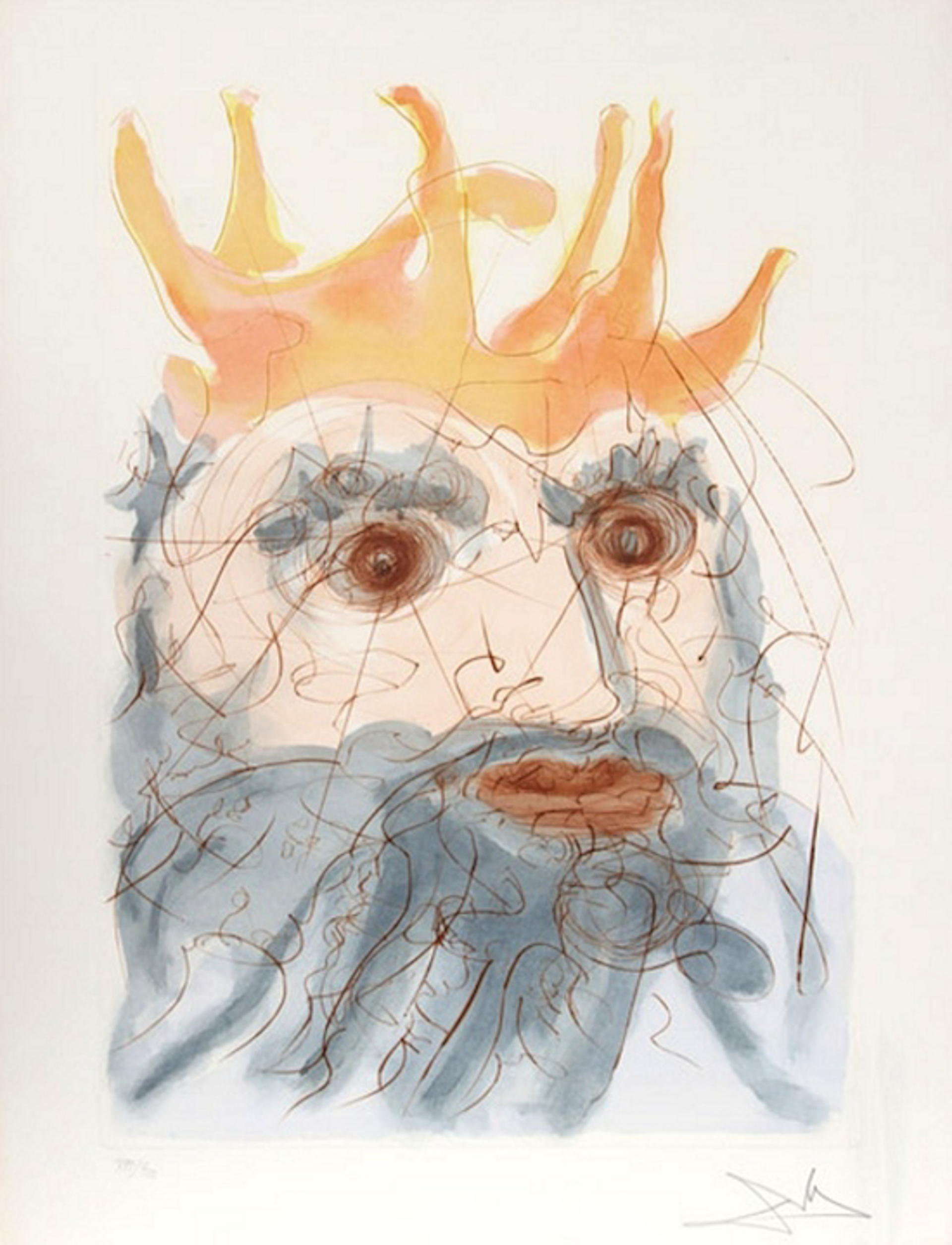 King Saul (from Our Historical Heritage, suite of 11) by Salvador Dali