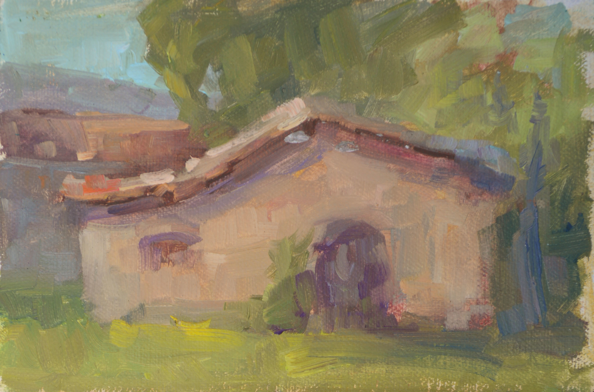 Tuscan House Near the Fresco Workers, Italy by Karen Hewitt Hagan