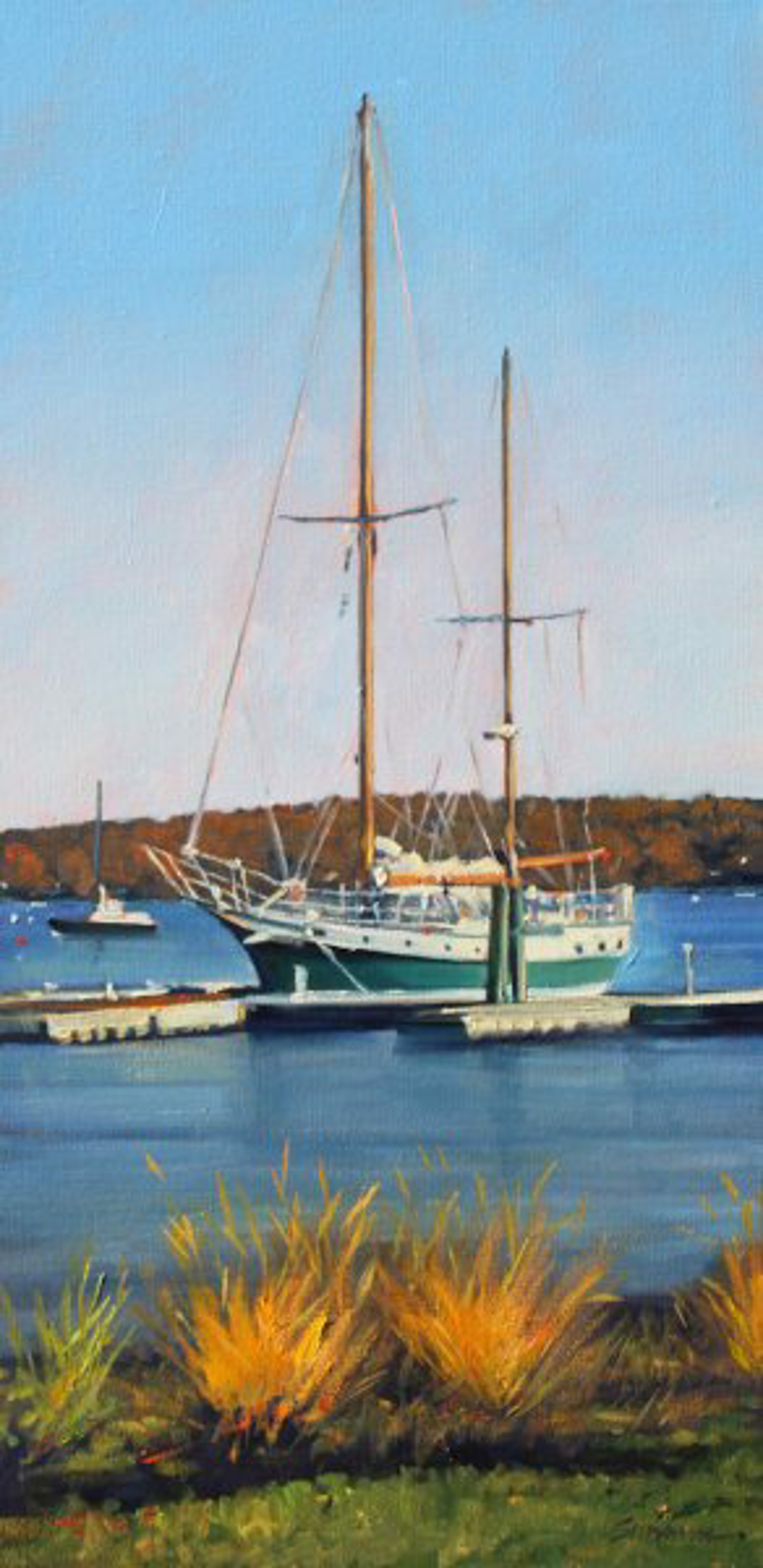 Tom Swimm: Essex Harbor by Tom Swimm