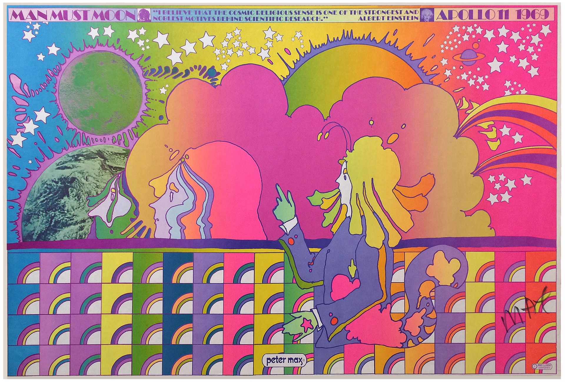 Man Must Moon by Peter Max