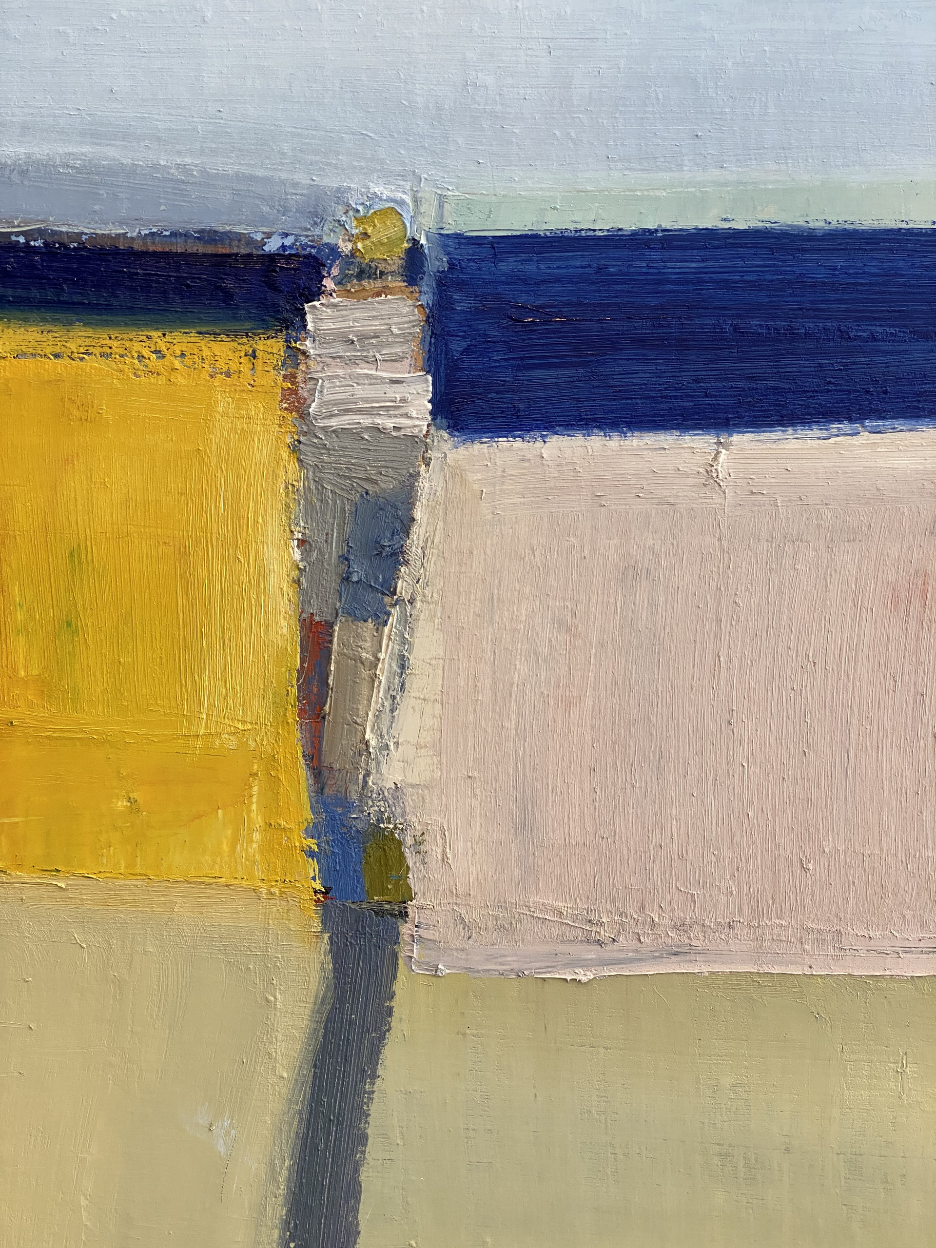 Blue Shadow, Blue Sea by Sandy Ostrau