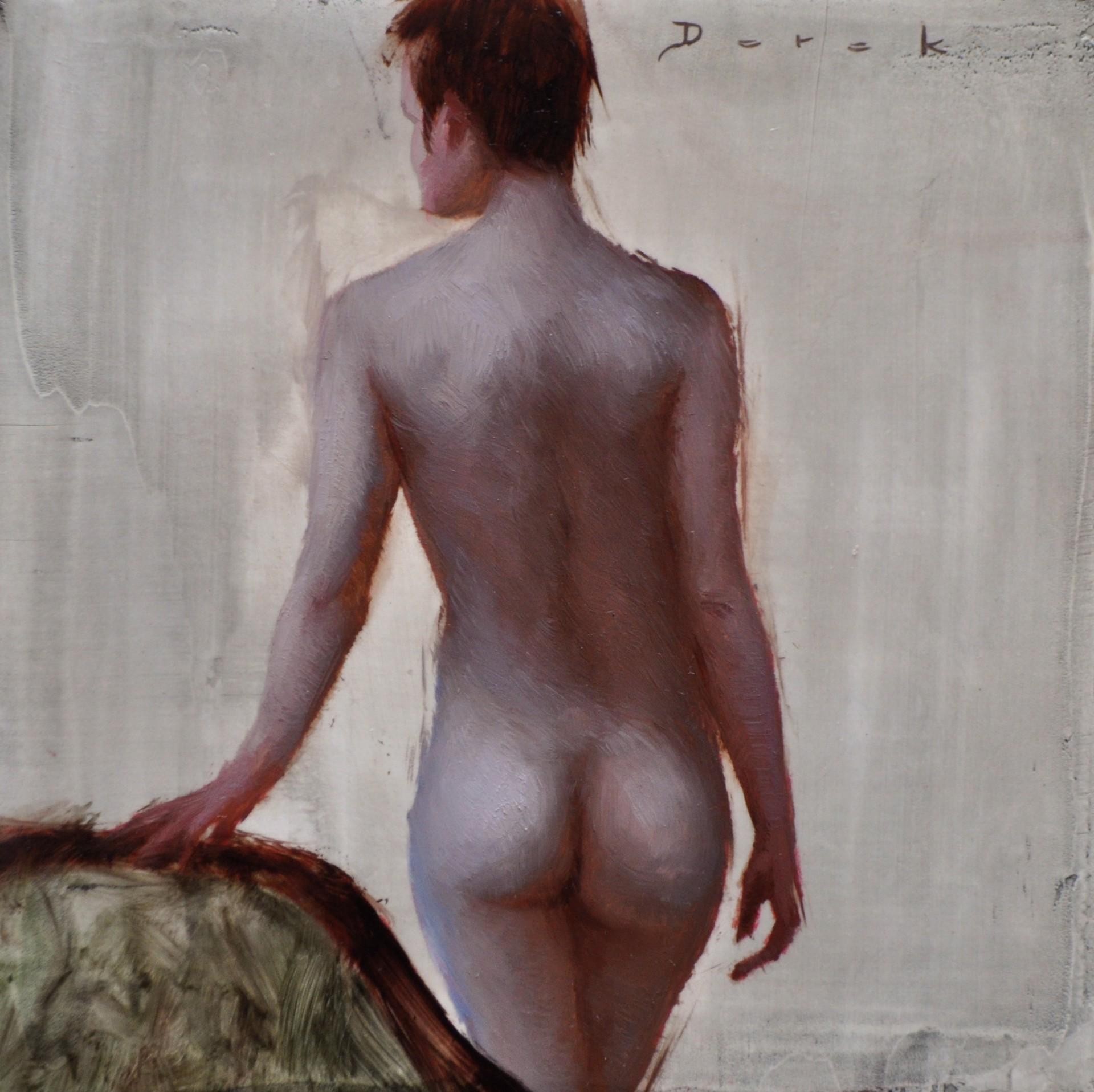 Standing Figure back by Derek Harrison