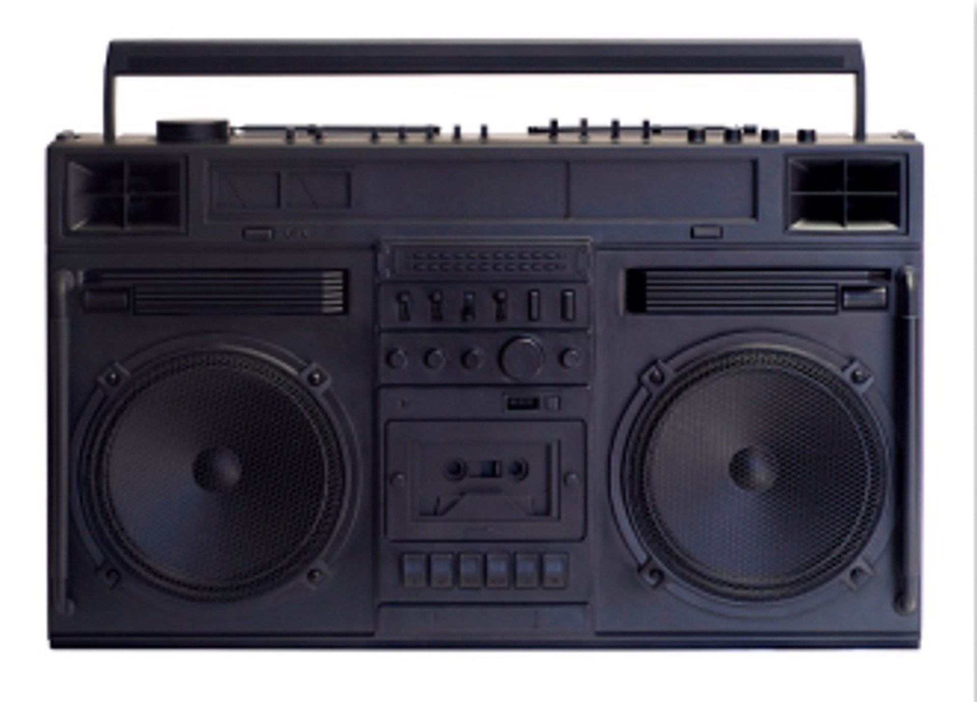 Boombox Sculpture series Size D, Black by Lyle Owerko