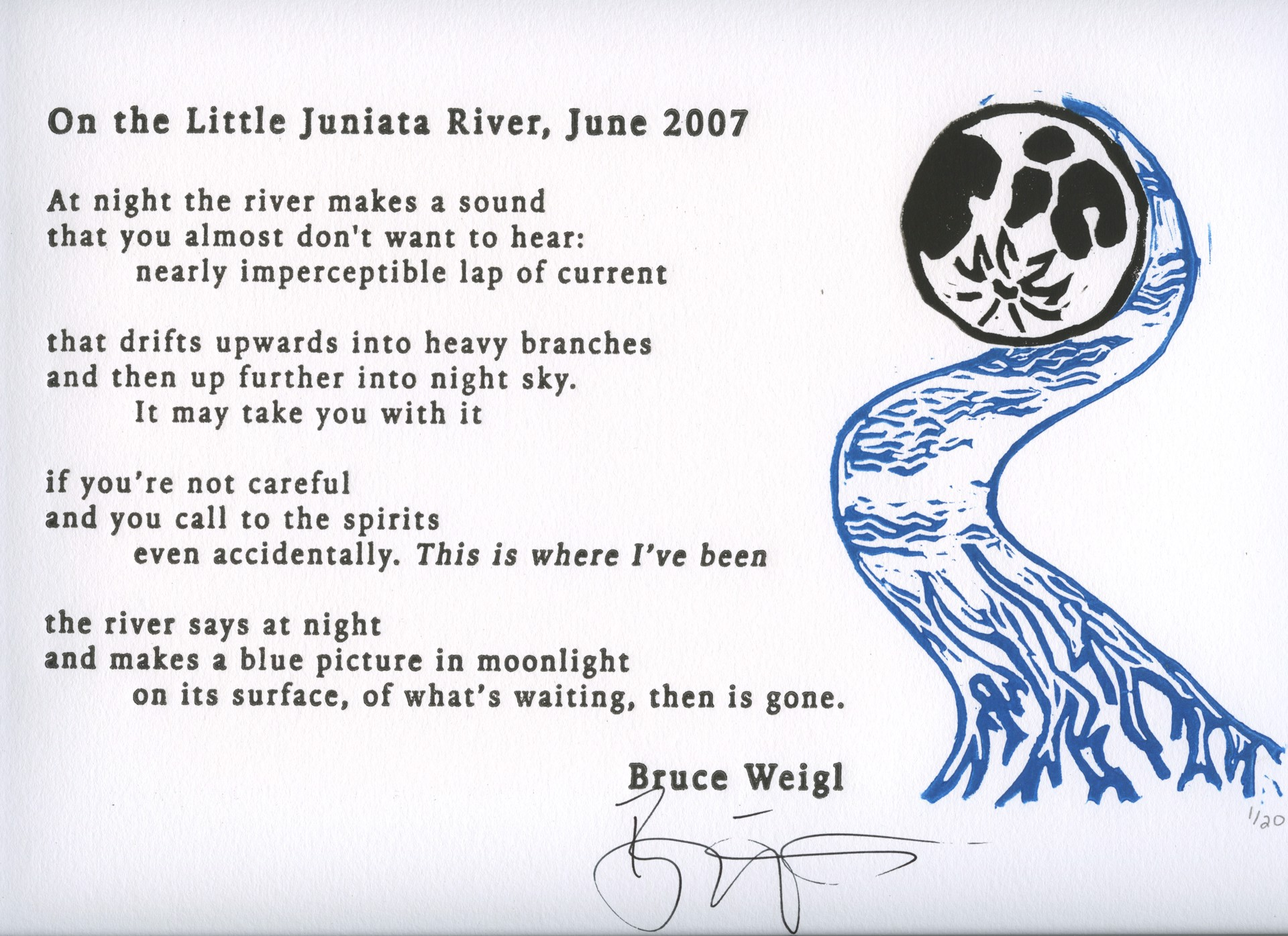 On the Little Juniata River, 2017 by Allison Hull