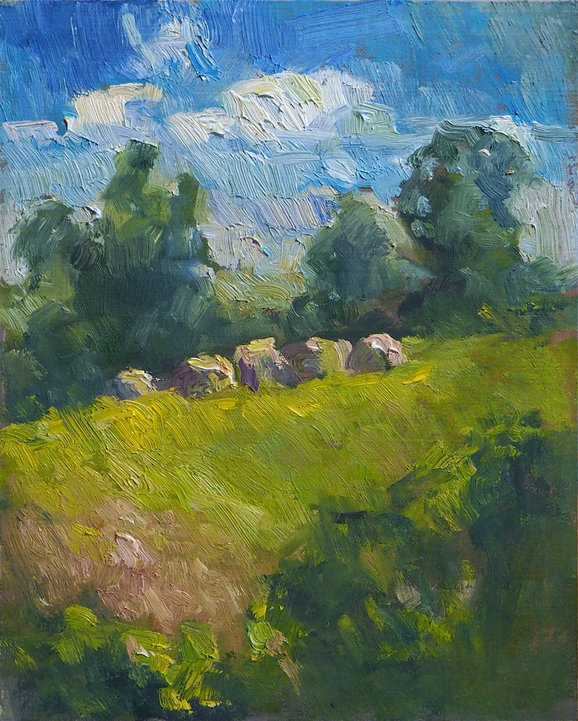 Hale Bales in July by Karen Hewitt Hagan