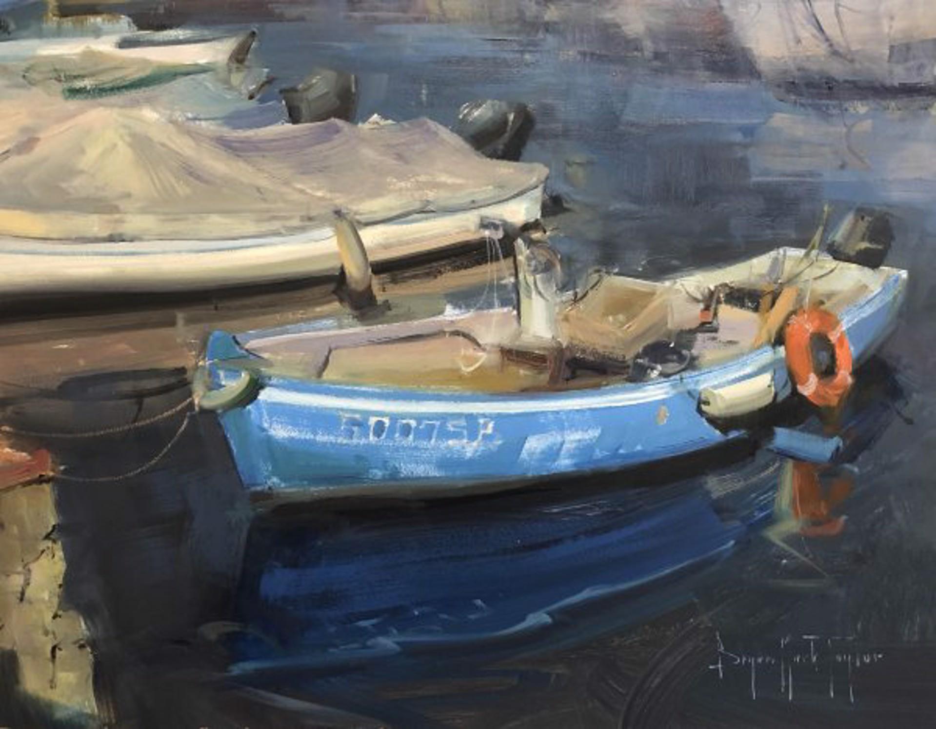 Blue Boat by Bryan Mark Taylor