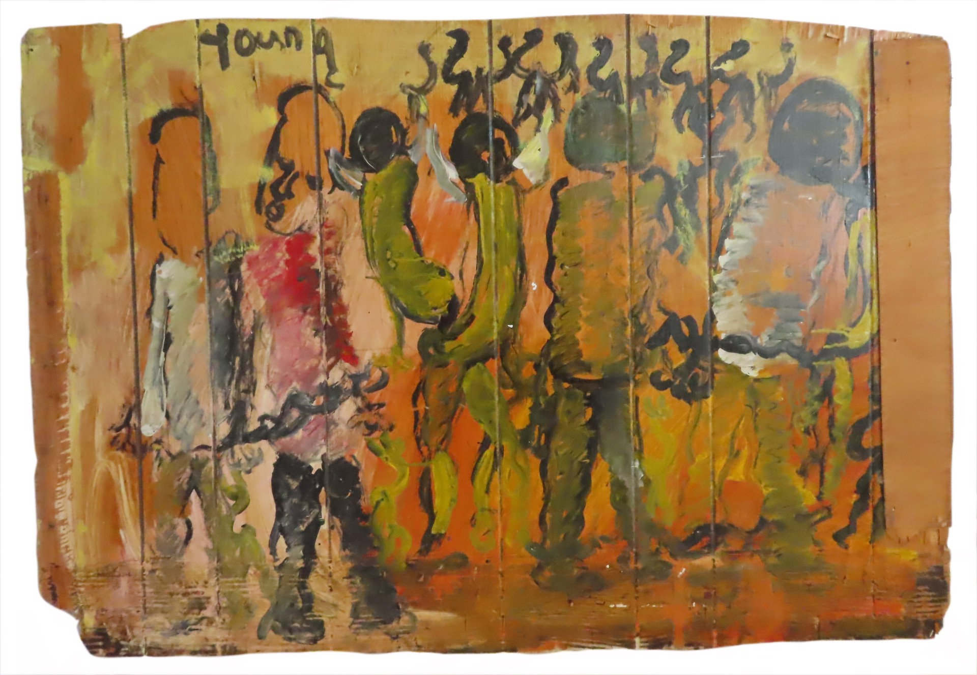 Chained to the Past by Purvis Young (1943 - 2010)
