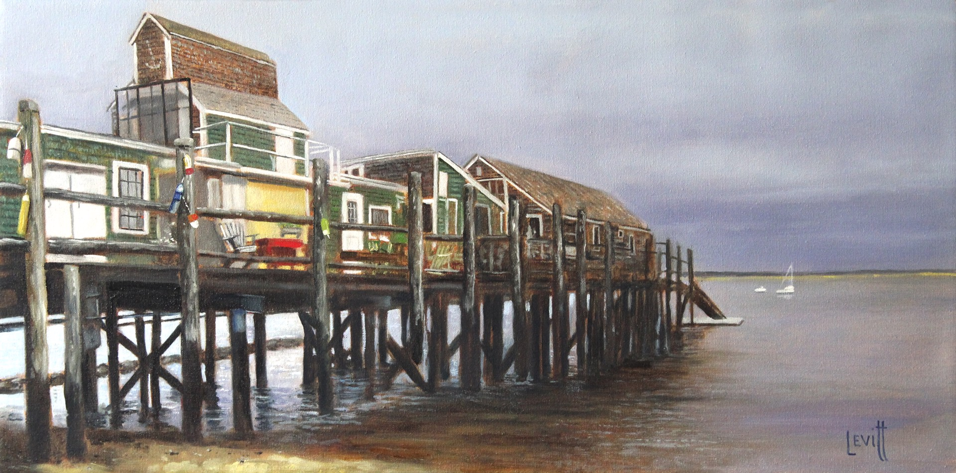 Sailing Off Captain Jack's Wharf by Barney Levitt