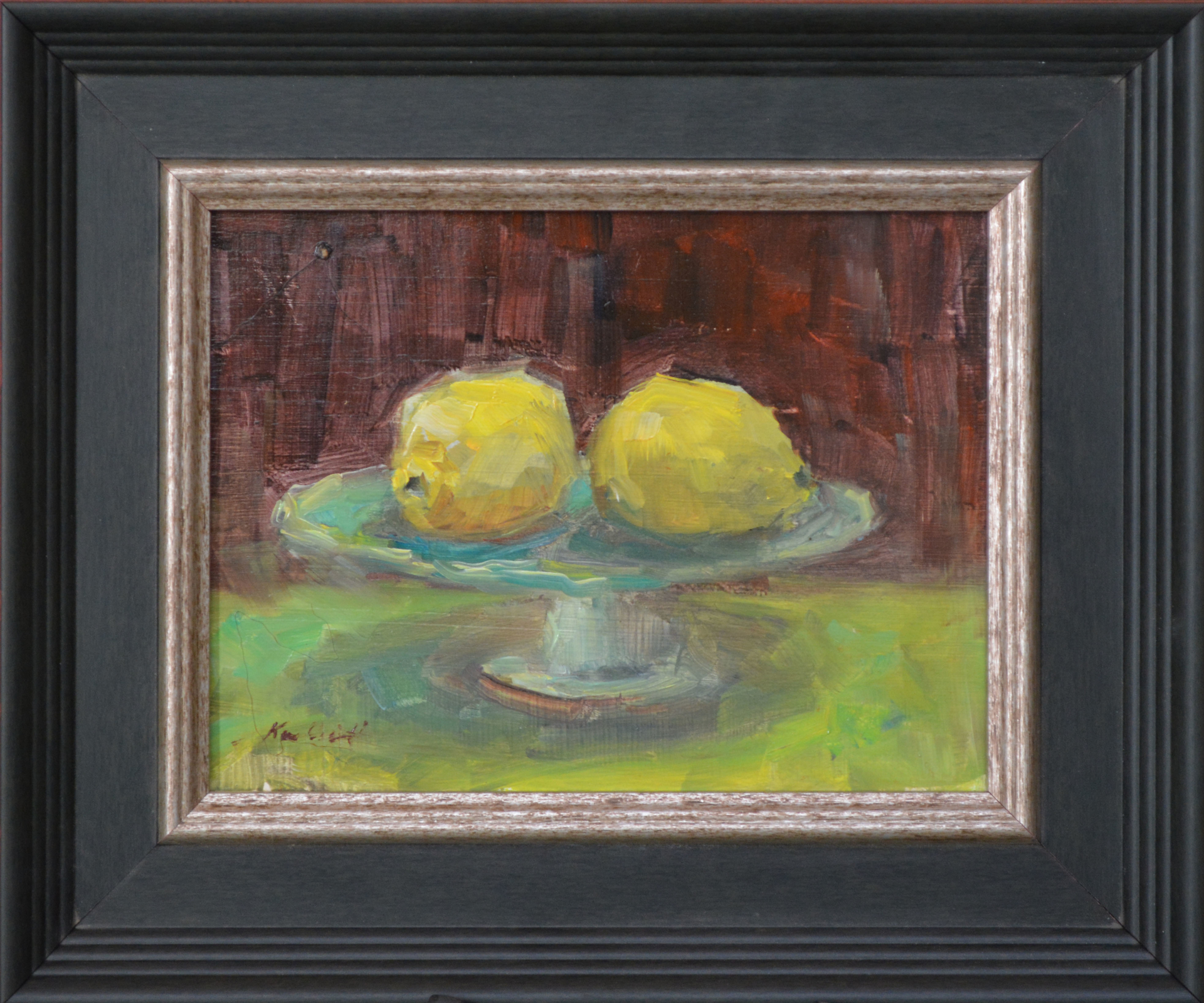 Two Lemons and a Cake Stand by Karen Hewitt Hagan
