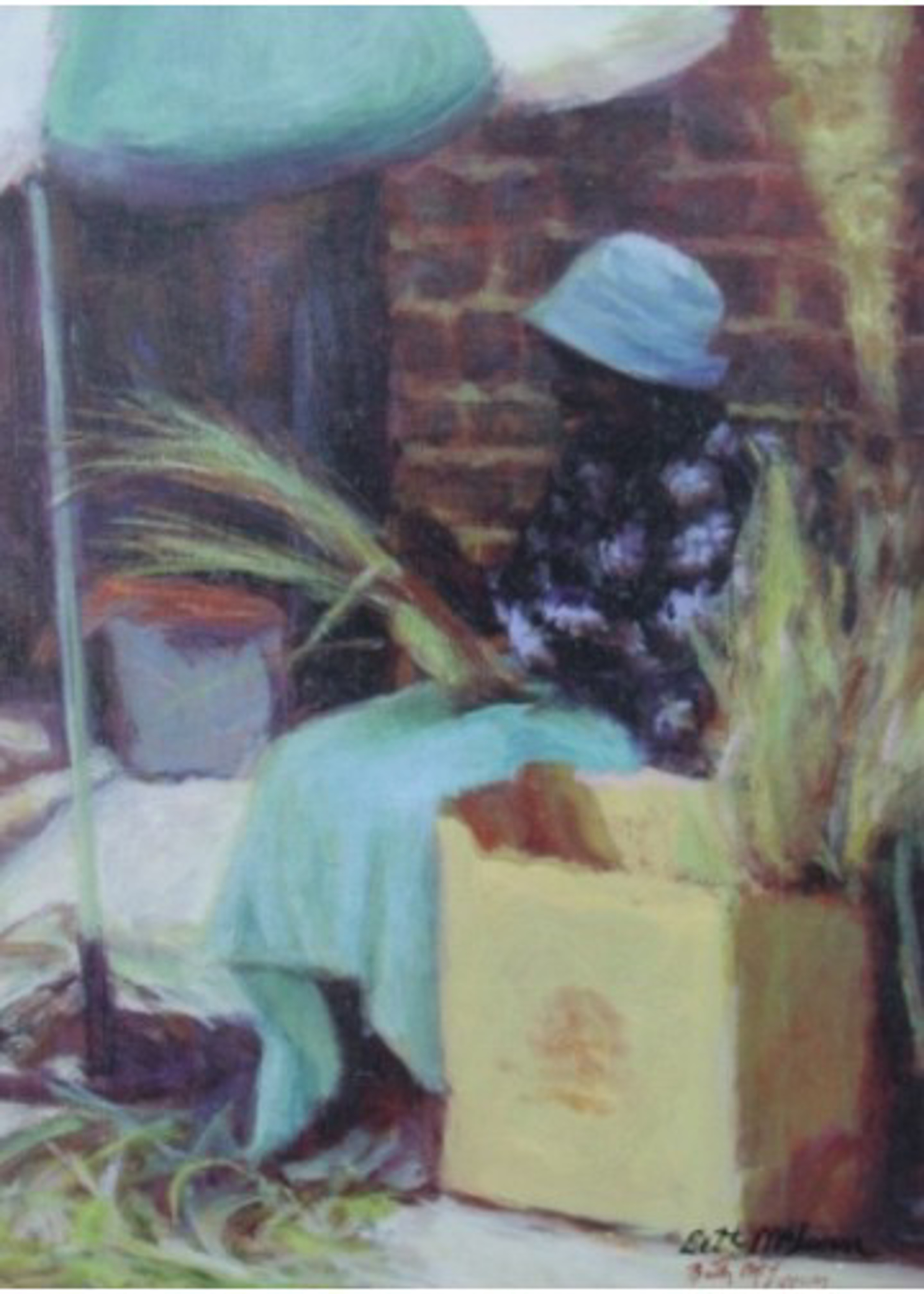 Basket Lady with Blue Hat by Beth McLean -- Giclee Prints