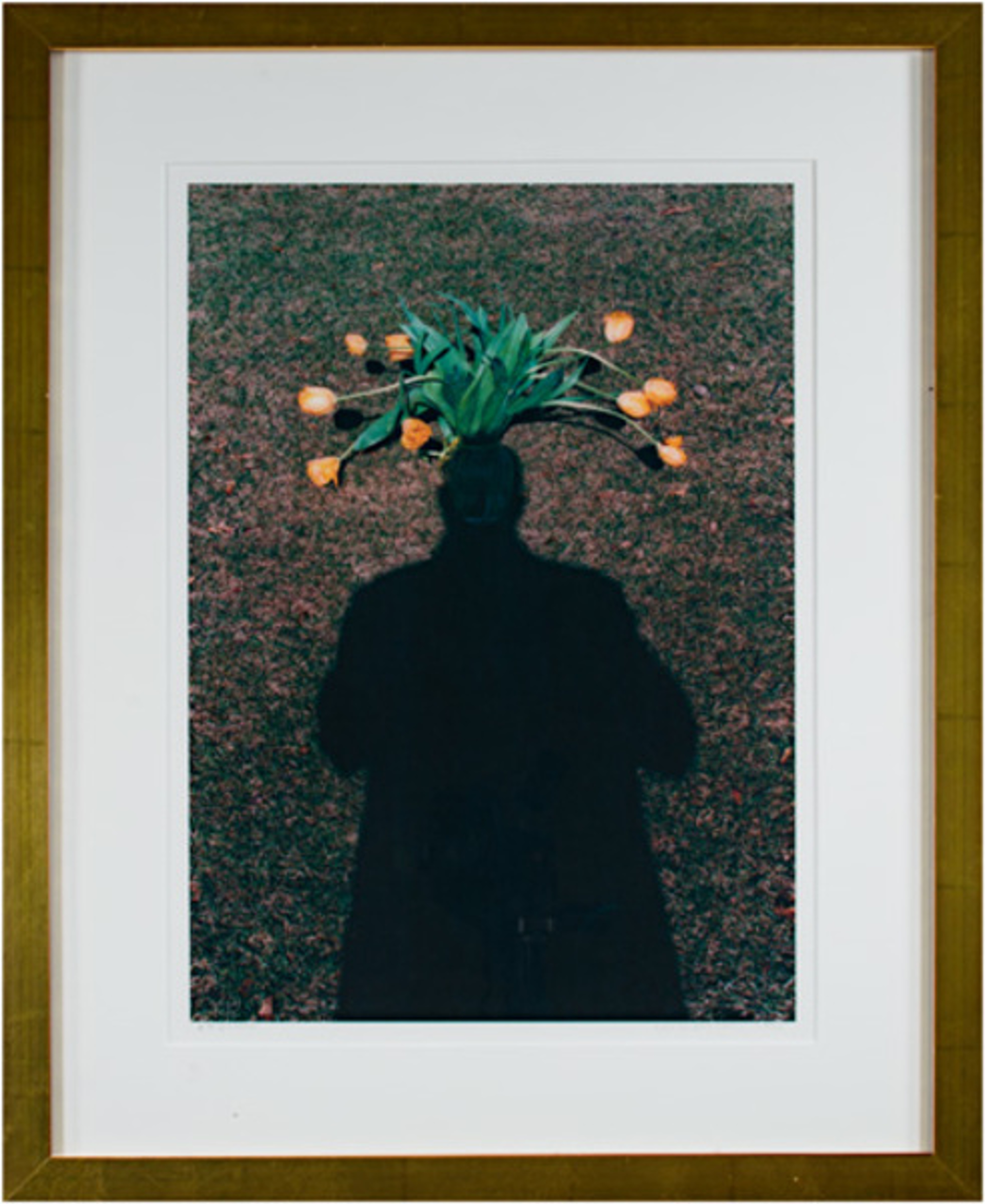 Self Portrait: Homage to Magritte - Tulip Top Headdress by David Barnett