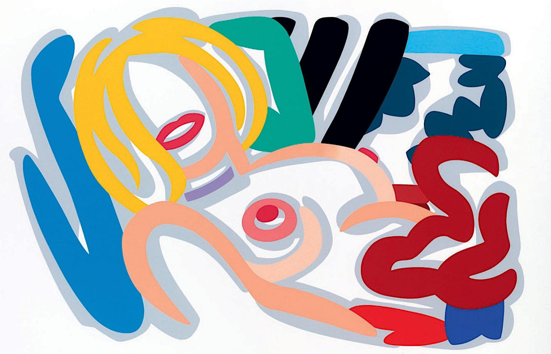 Big Blonde with Choker by Tom Wesselmann